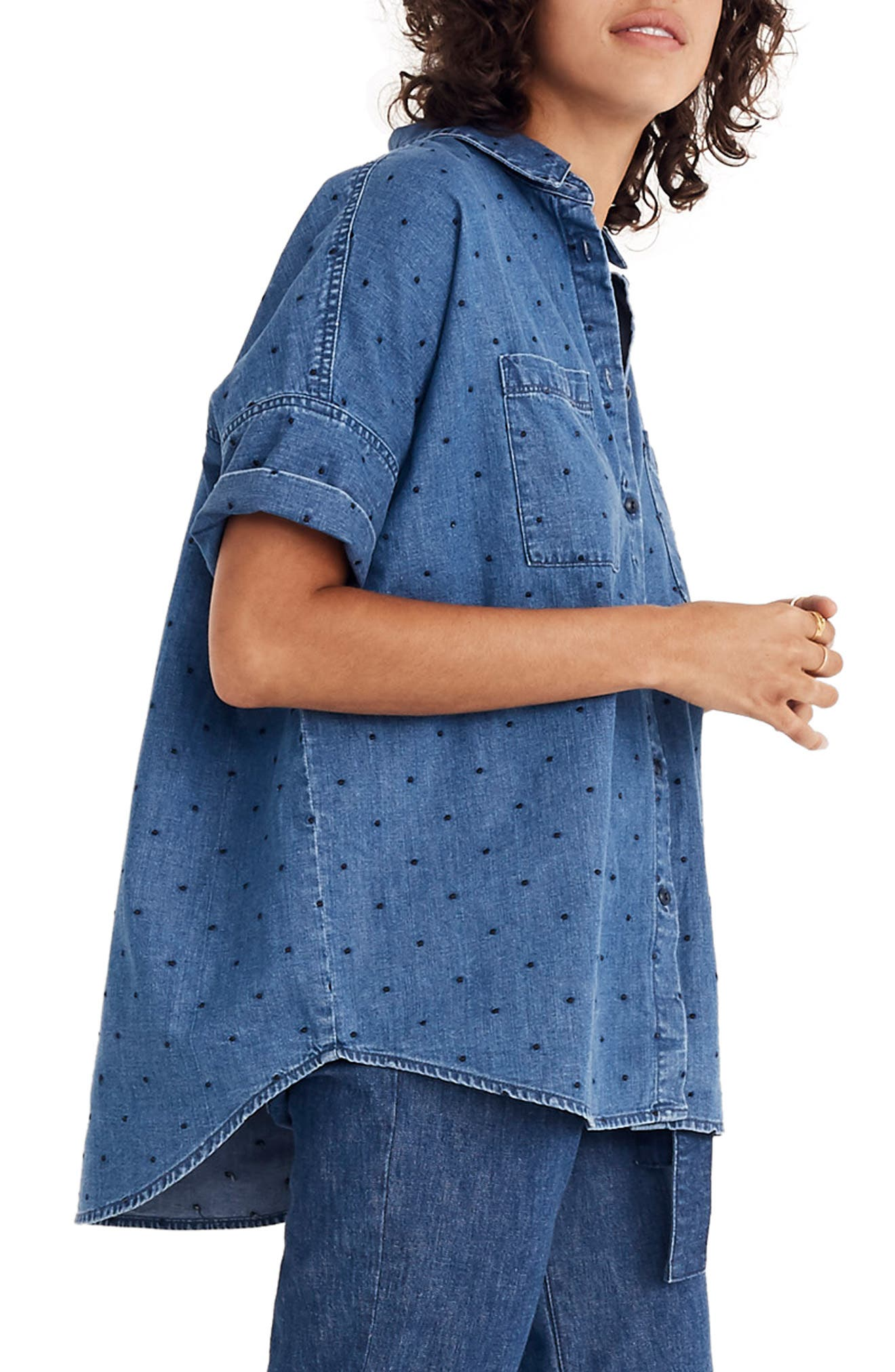 Courier Dobby Dot Shirt,                             Alternate thumbnail 3, color,                             GOODLET WASH
