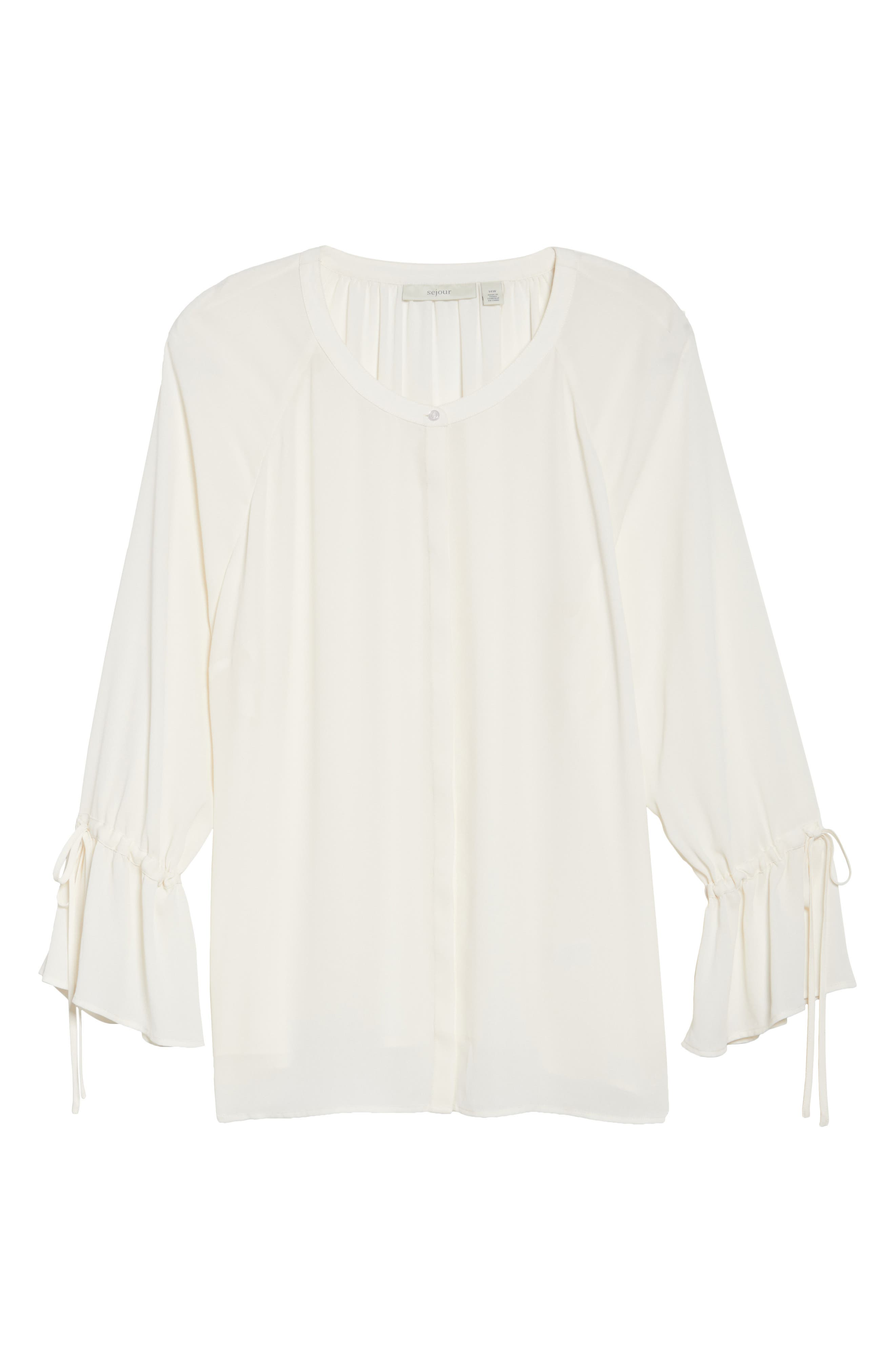 Tie Sleeve Blouse,                             Alternate thumbnail 23, color,