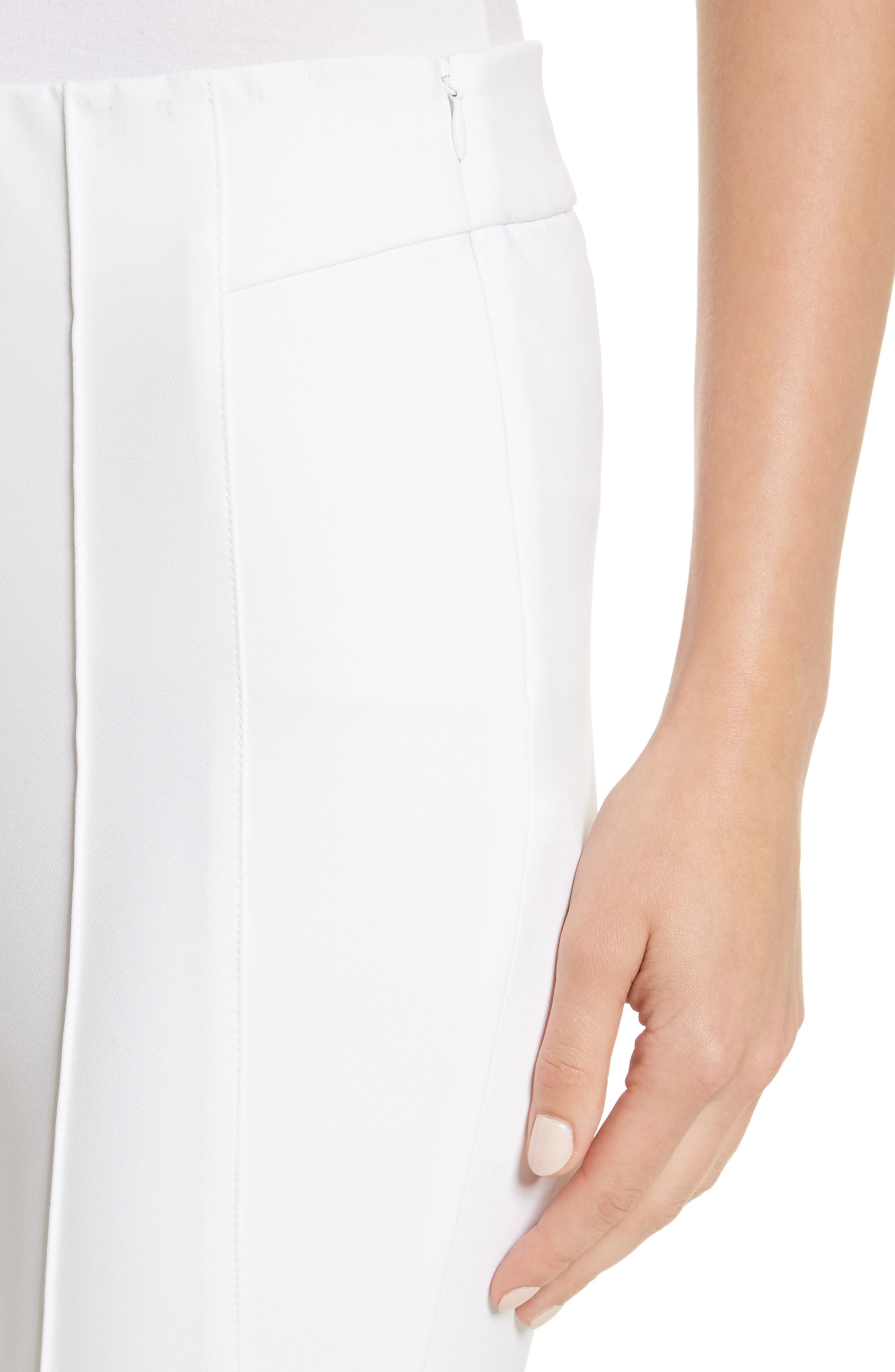 'Gramercy' Acclaimed Stretch Pants,                             Alternate thumbnail 4, color,                             WHITE