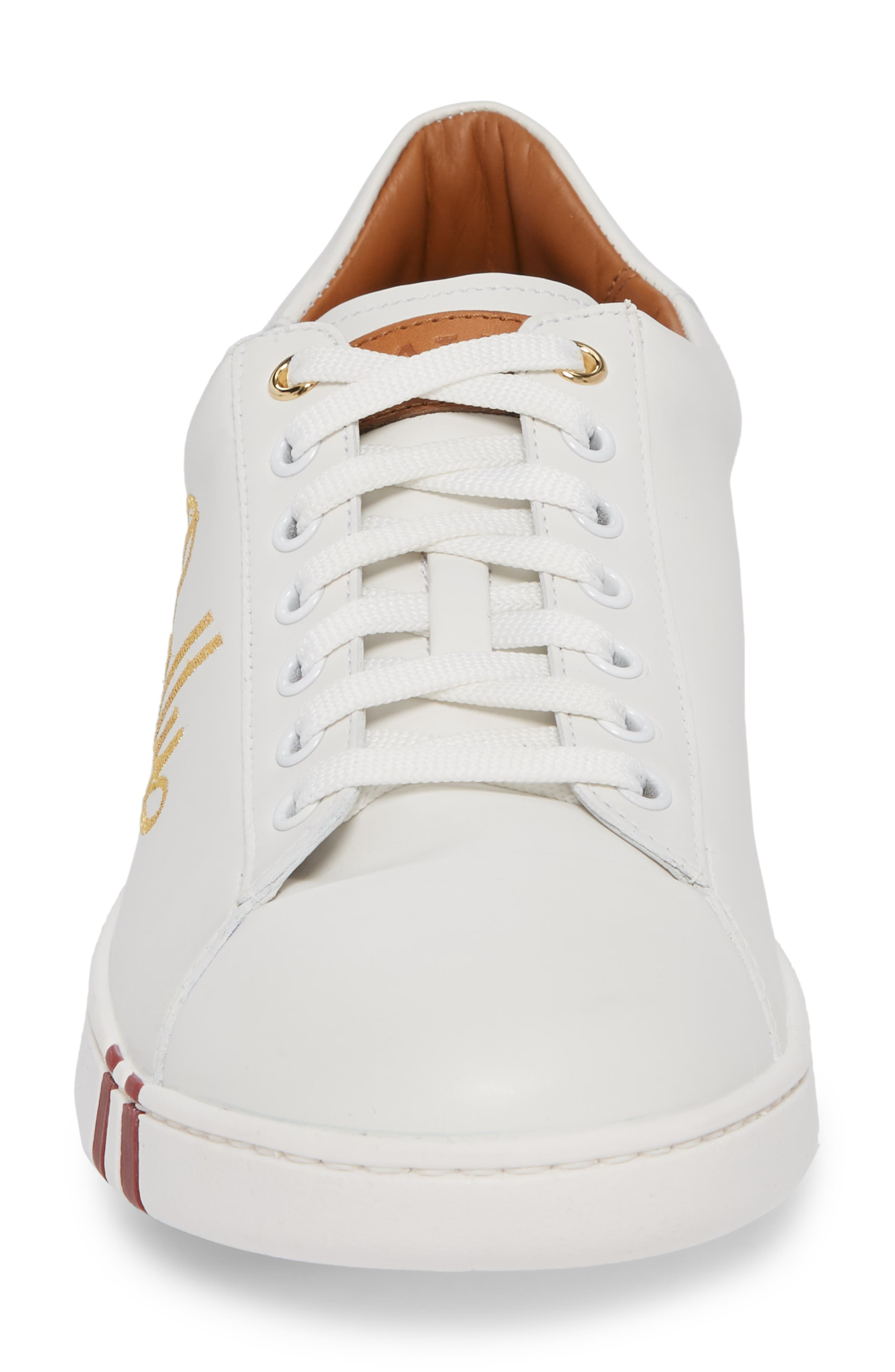 Winston Low Top Sneaker,                             Alternate thumbnail 4, color,                             WHITE