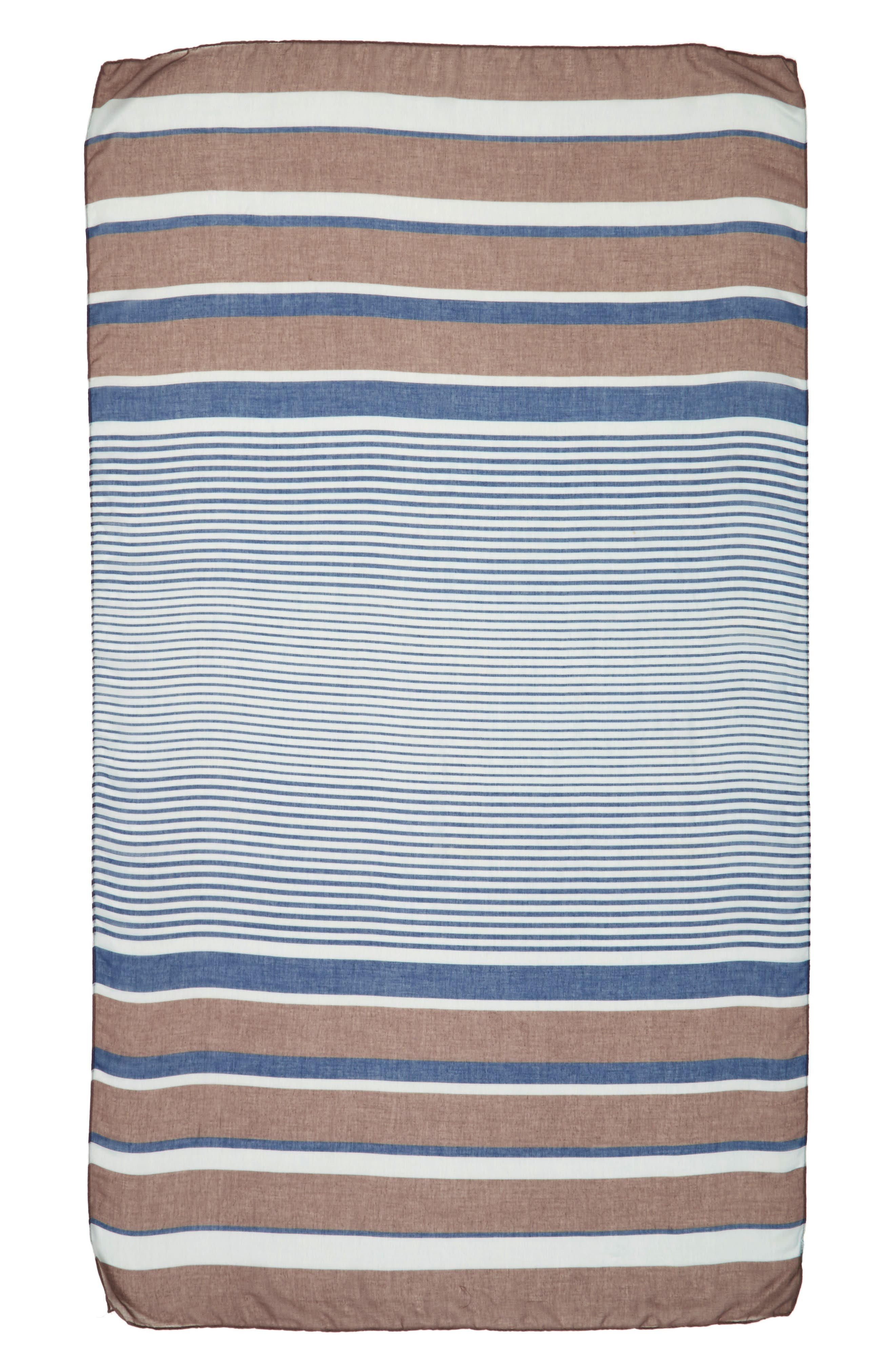 Accessory Collective Multi Stripe Oblong Scarf,                             Alternate thumbnail 2, color,                             402