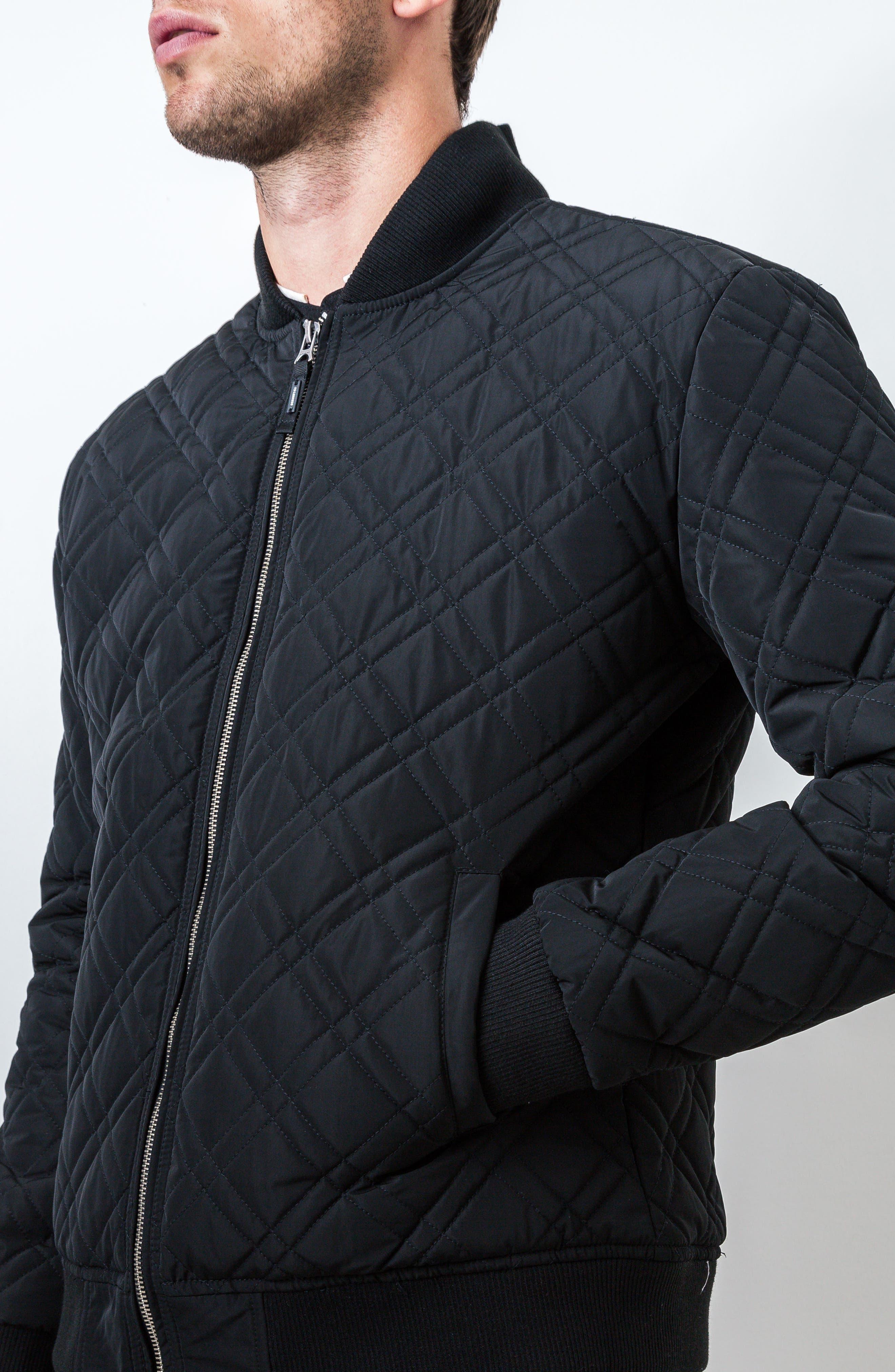 Arca Quilt Jacket,                             Alternate thumbnail 4, color,                             001