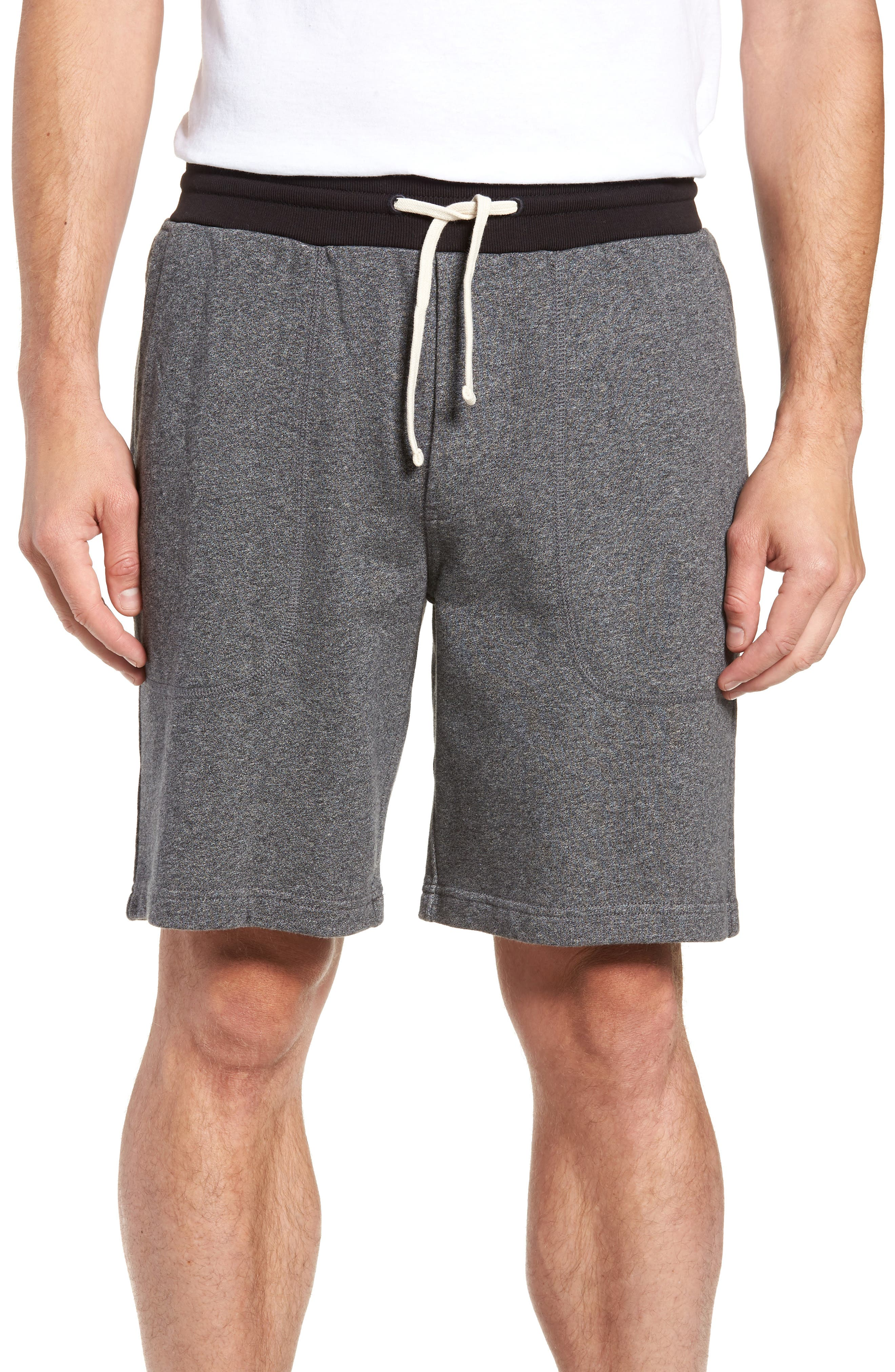 French Terry Shorts,                         Main,                         color, HEATHER ANCHOR