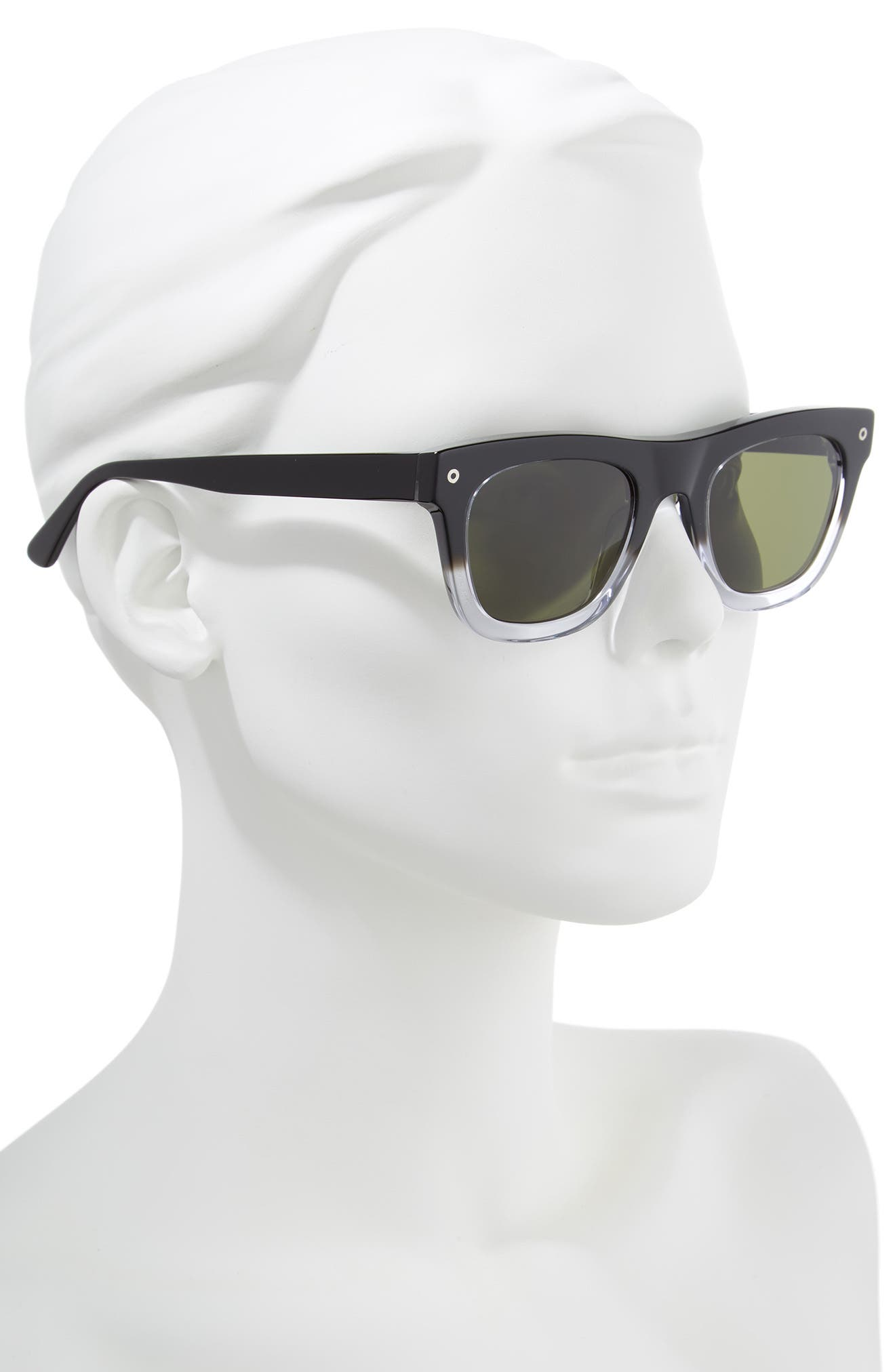 Andersen 49mm Sunglasses,                             Alternate thumbnail 2, color,                             BLACK CLEAR FADE/ GREY