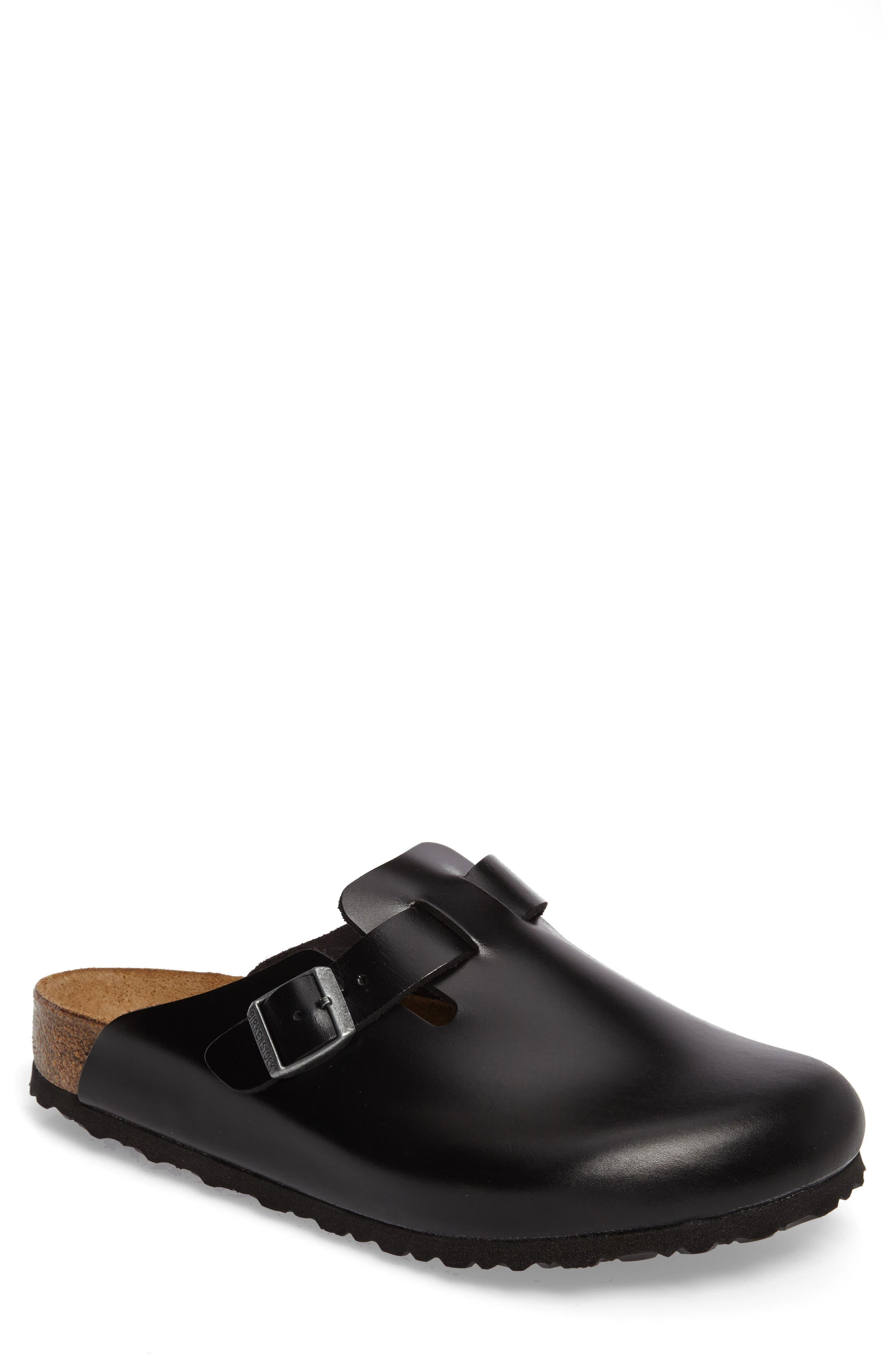 Birkenstock Boston Soft Clog,8.5 - Black