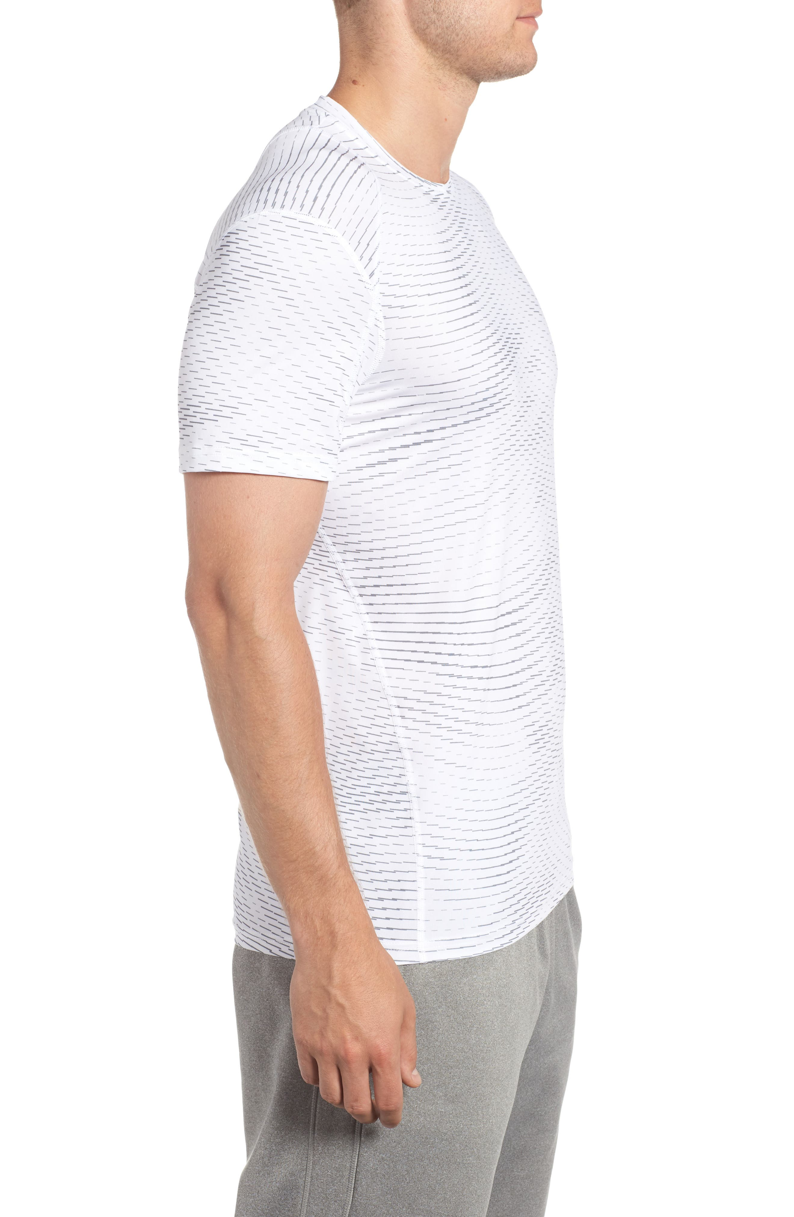 Fitted Athletic T-Shirt,                             Alternate thumbnail 8, color,