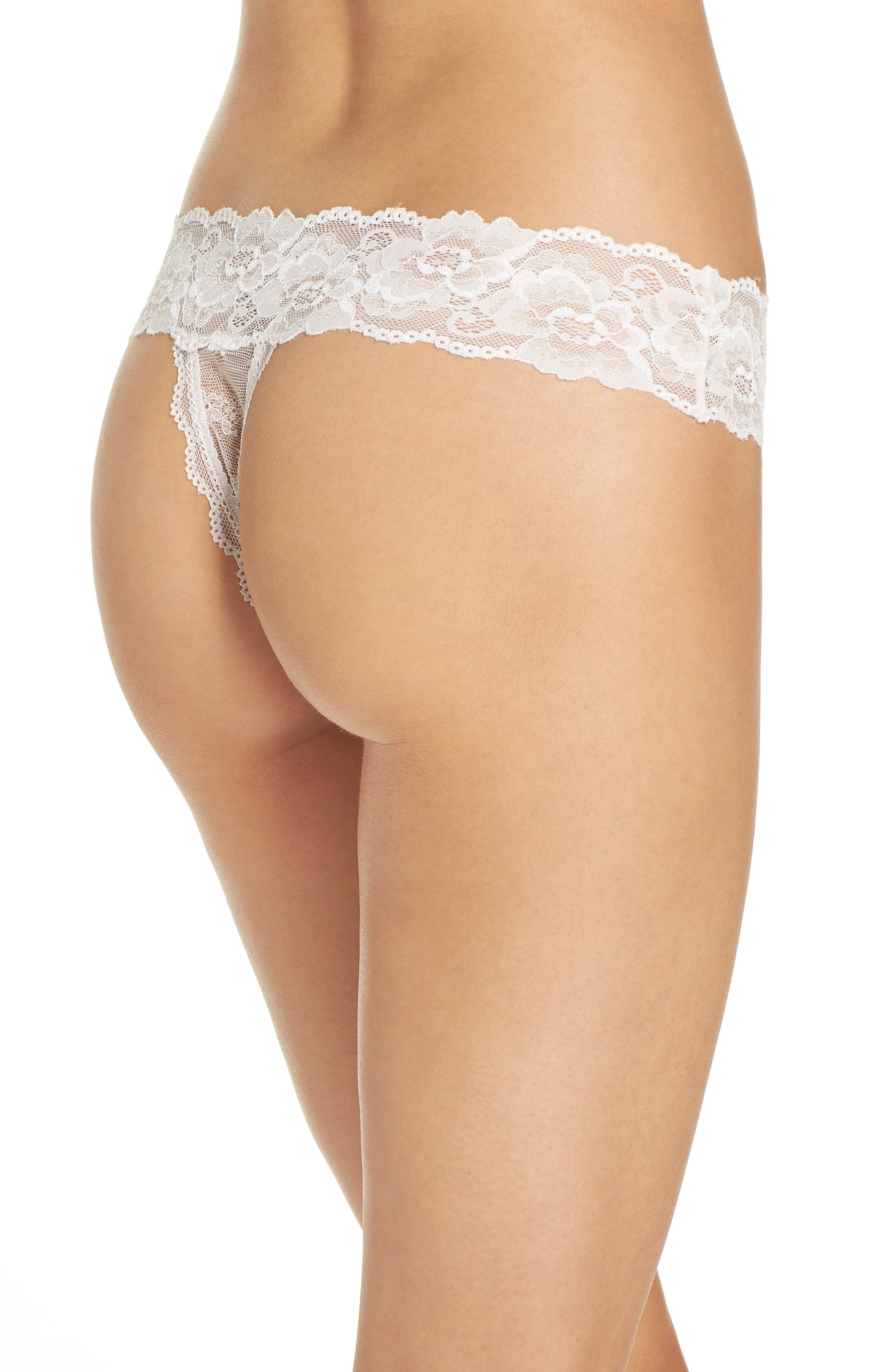 Honeydew Lace Thong,                             Alternate thumbnail 28, color,