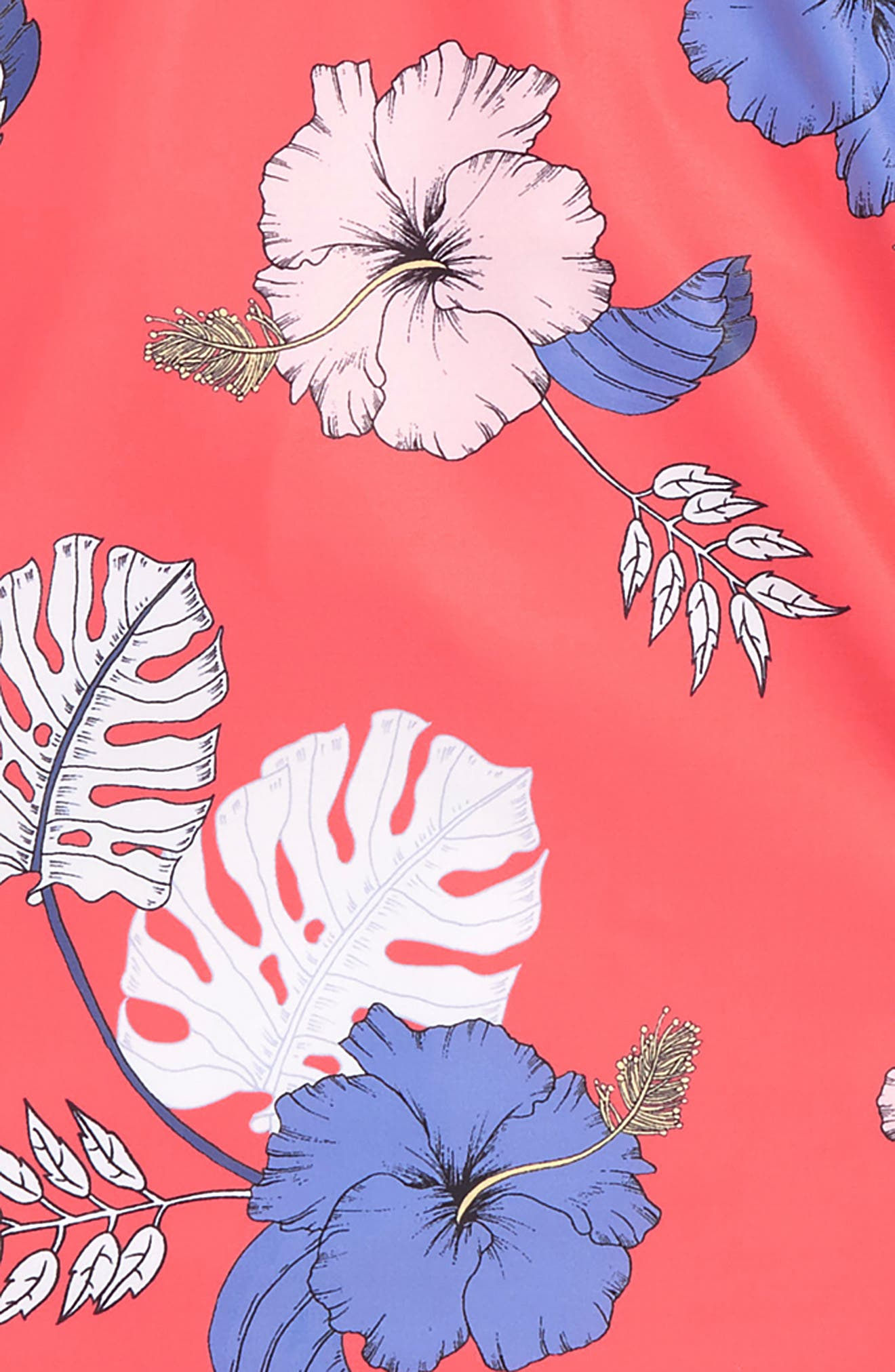 Tropical Vibes Two-Piece Long Sleeve Swimsuit,                             Alternate thumbnail 3, color,                             HIBISCUS RED