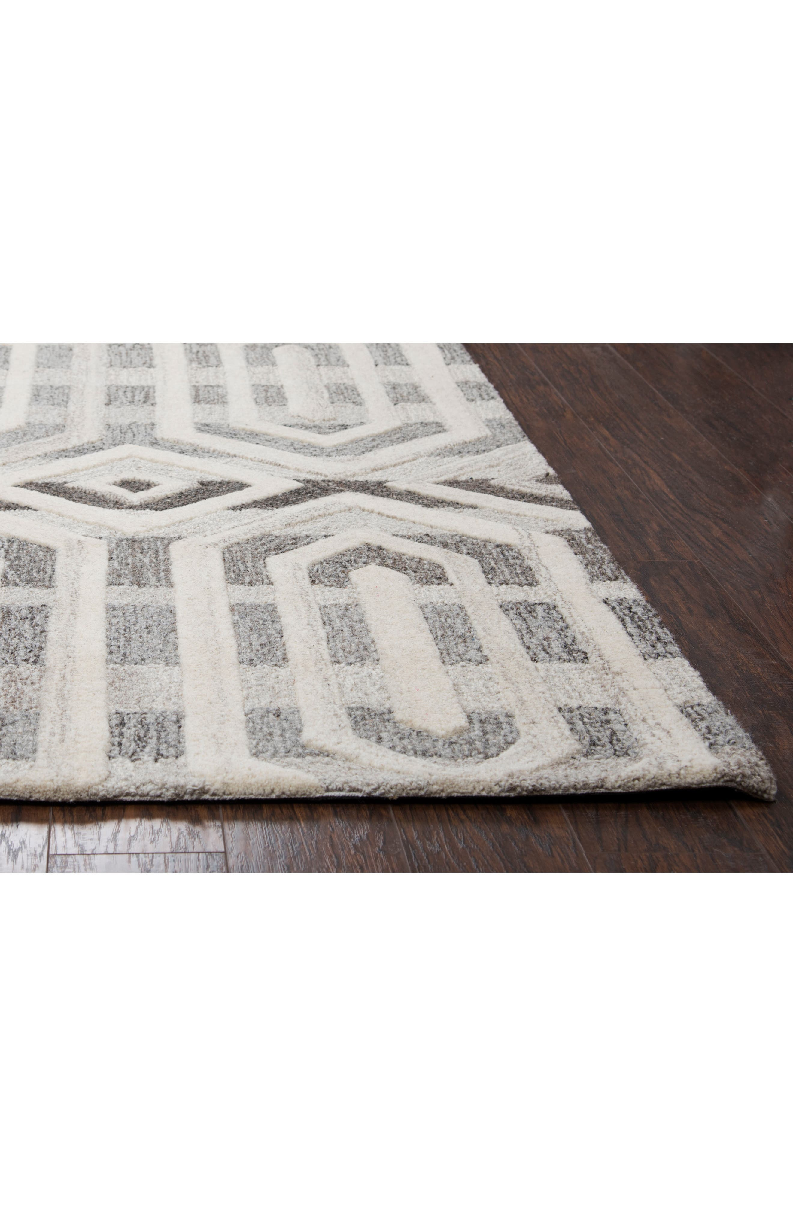 Urban Octagon Hand Tufted Wool Area Rug,                             Alternate thumbnail 4, color,                             020