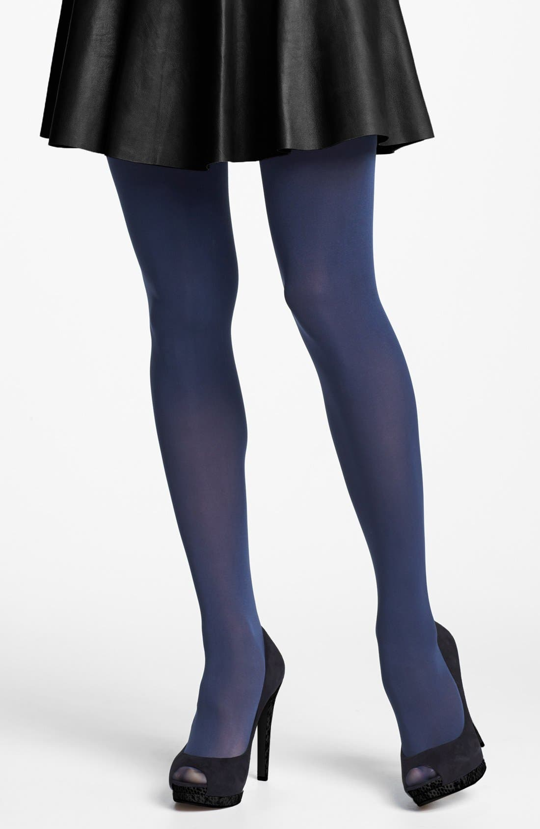 'Everyday' Opaque Tights,                             Main thumbnail 4, color,