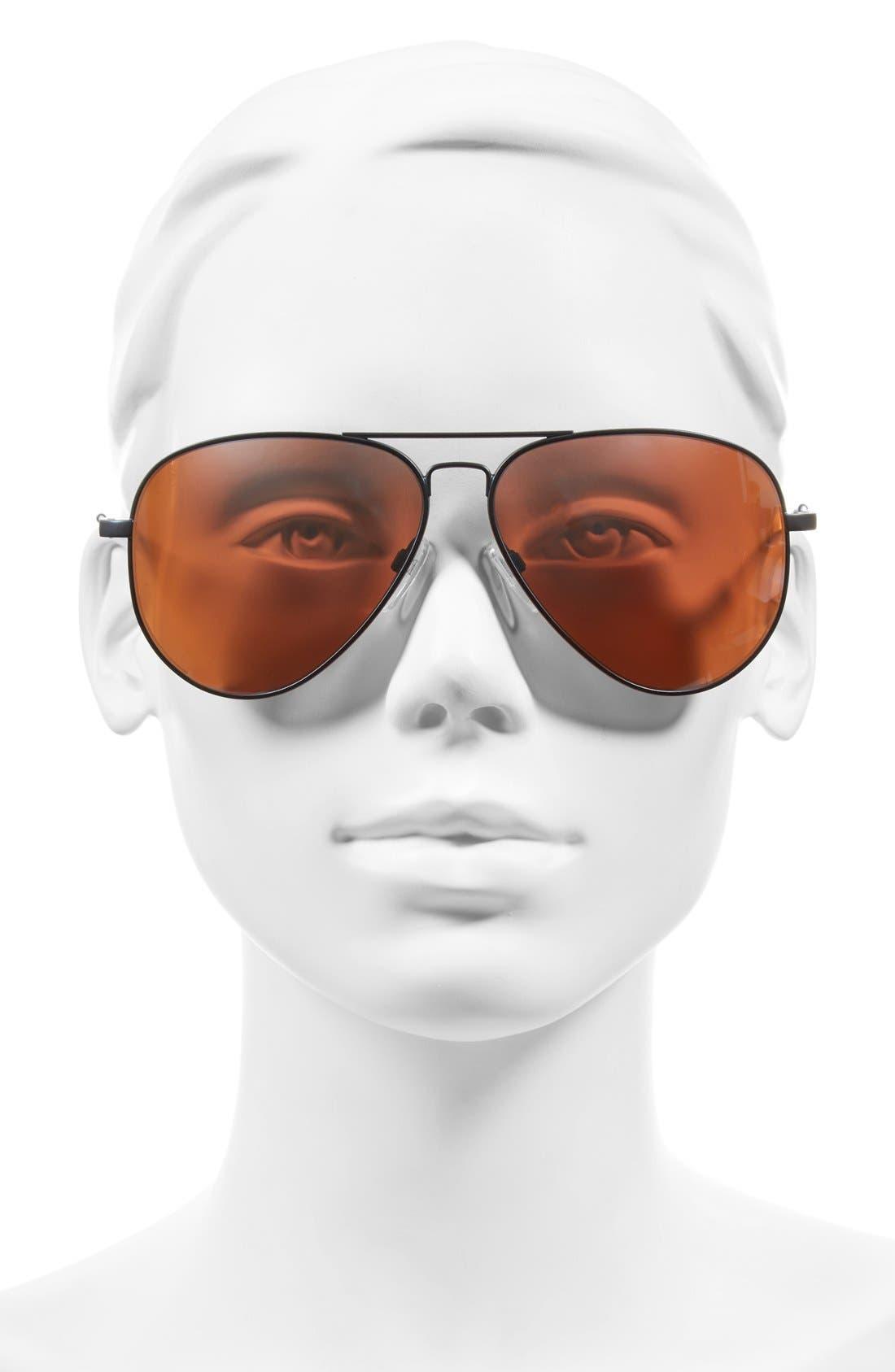 'AV1 XL' 62mm Aviator Sunglasses,                             Alternate thumbnail 5, color,