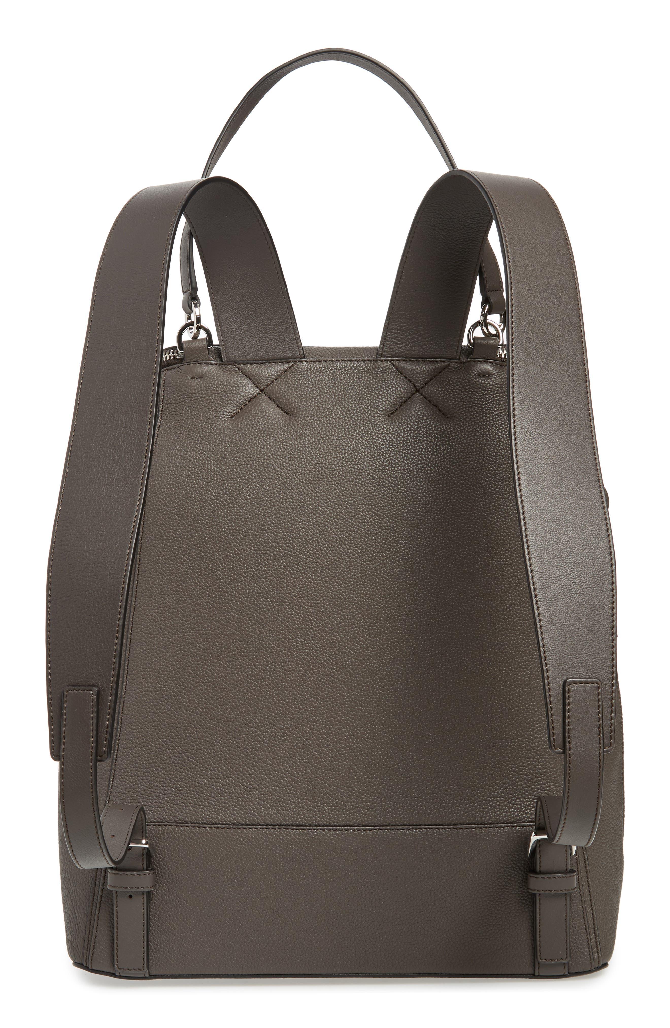 Goya Plaid Calfskin Leather Backpack,                             Alternate thumbnail 3, color,                             022