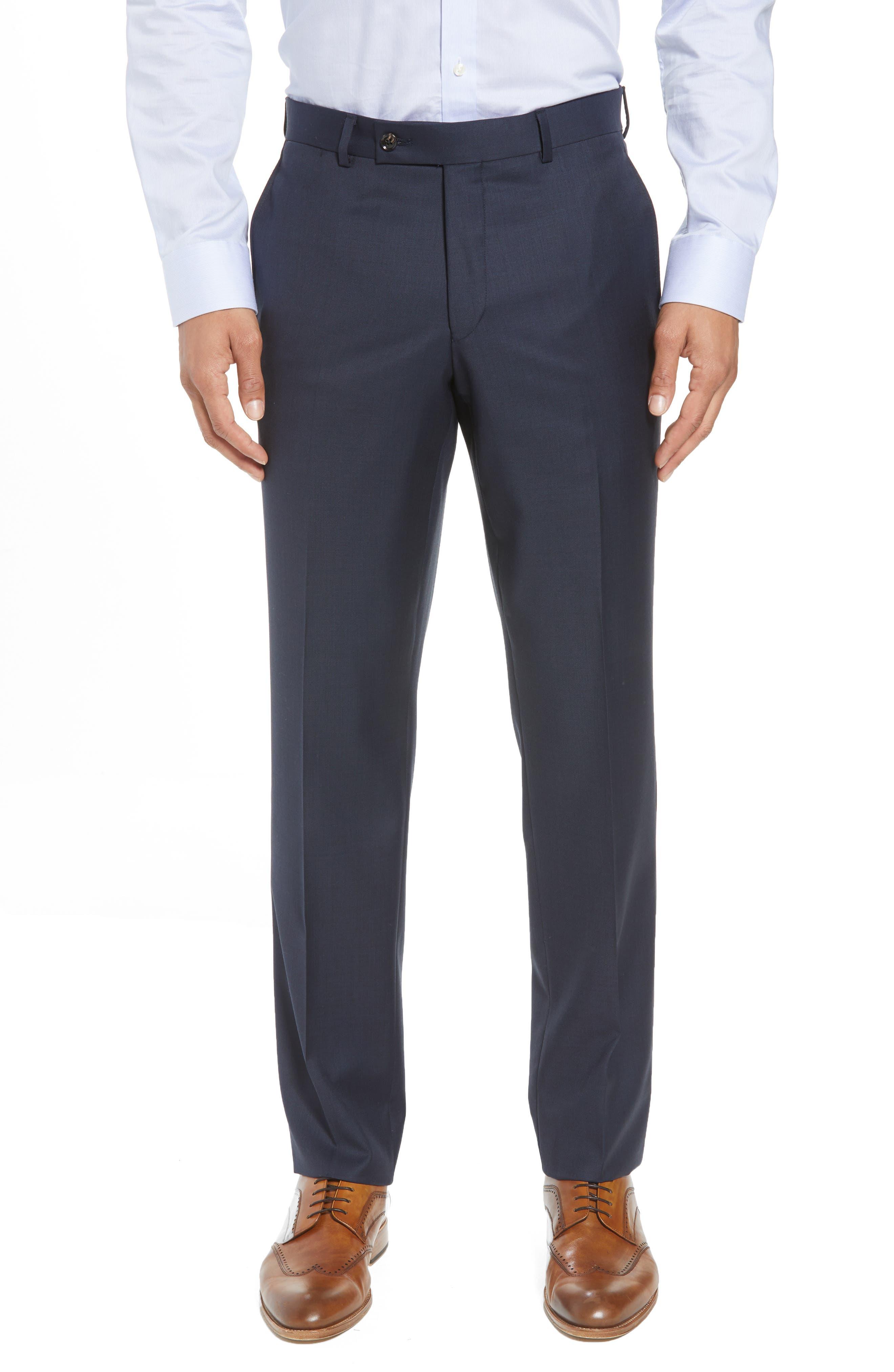Jones Trim Fit Solid Wool Suit,                             Alternate thumbnail 6, color,                             BLUE
