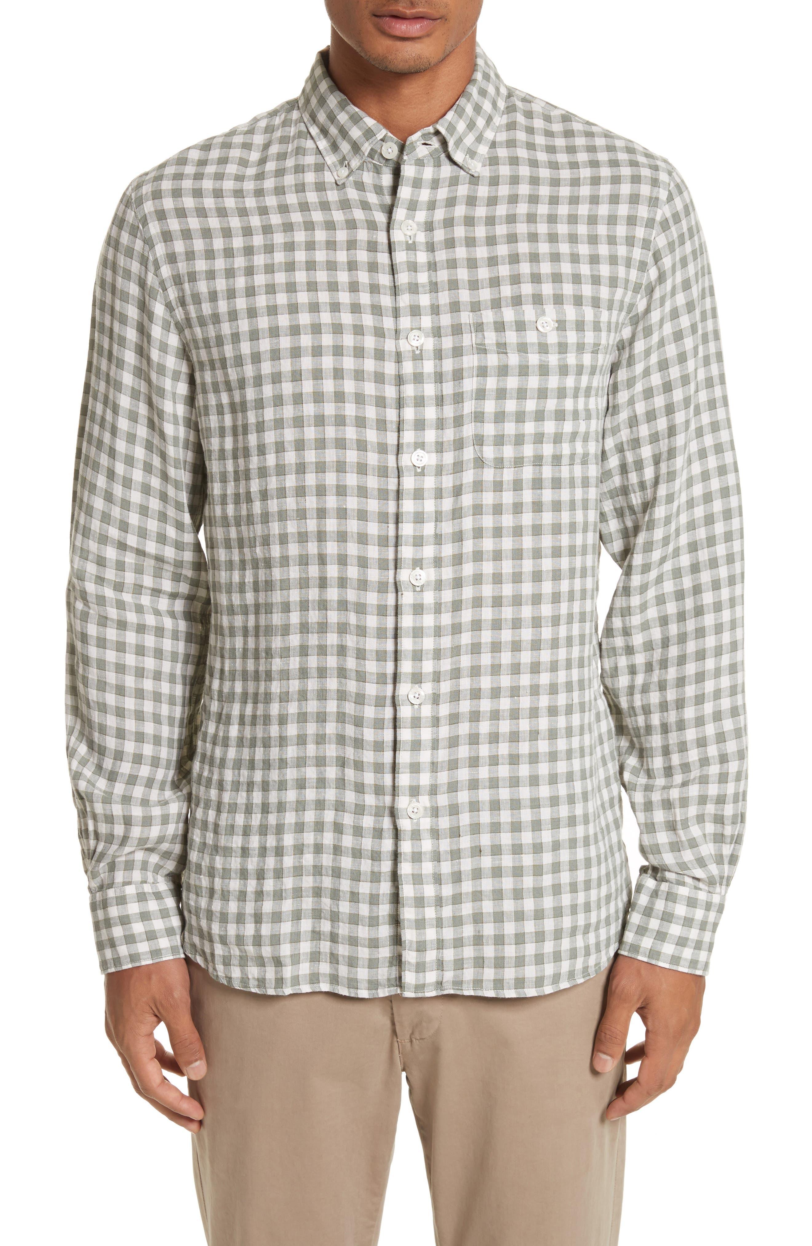 Check Woven Shirt,                         Main,                         color, 300