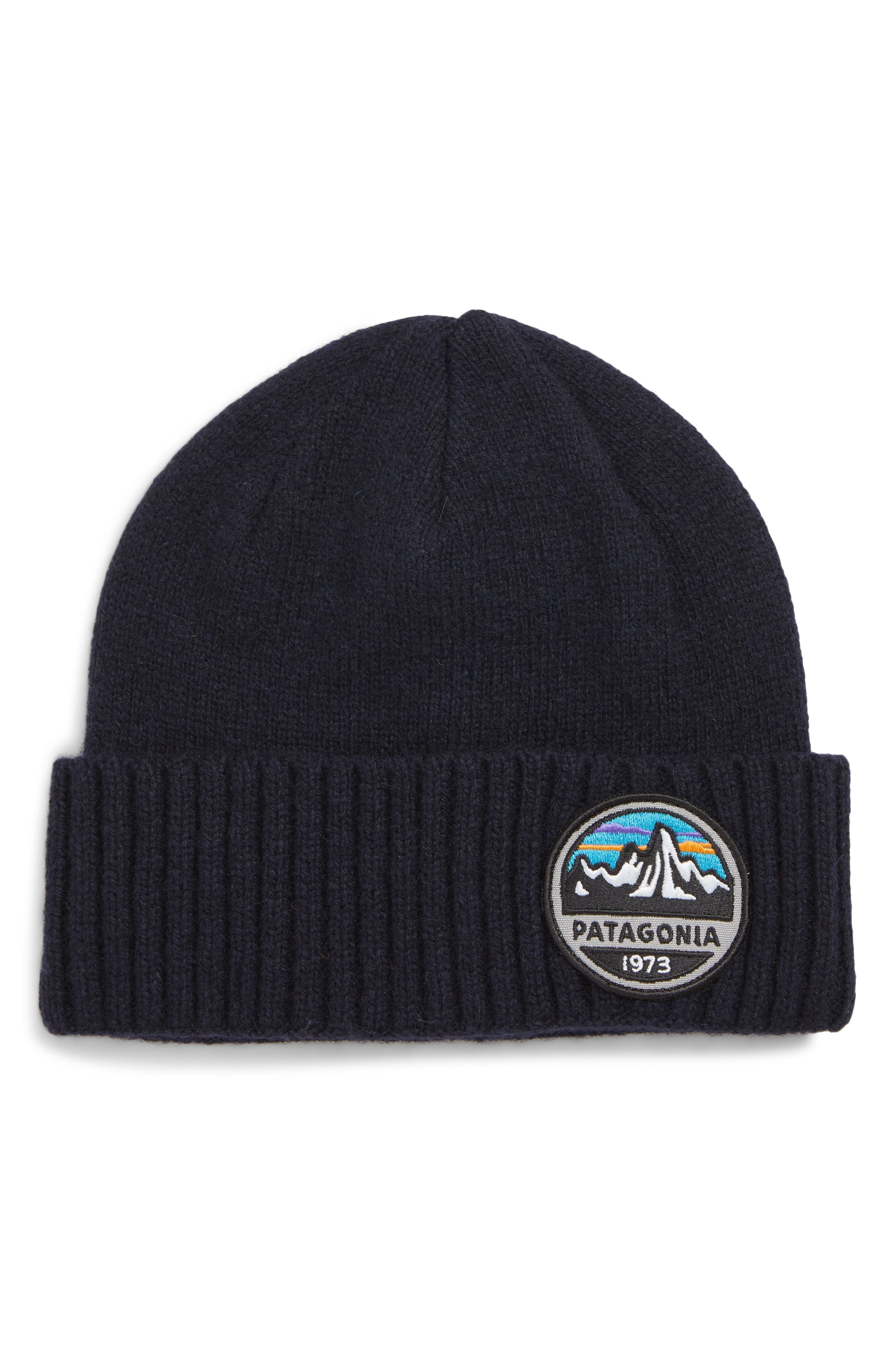 Brodeo Wool Stocking Cap,                         Main,                         color, FITZ ROY SCOPE NAVY BLUE