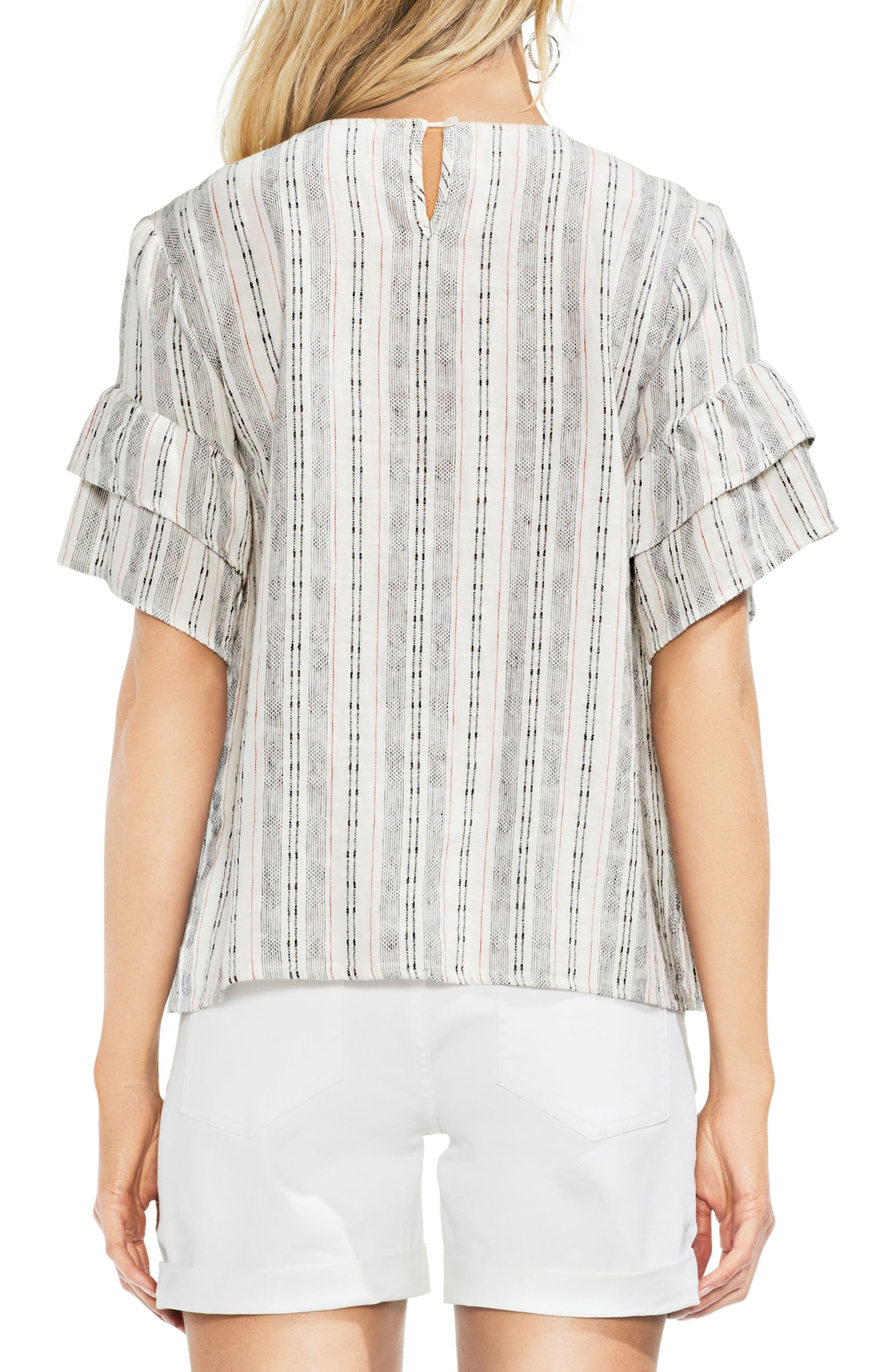 Short Sleeve Embroidered Peasant Top,                             Alternate thumbnail 2, color,                             600