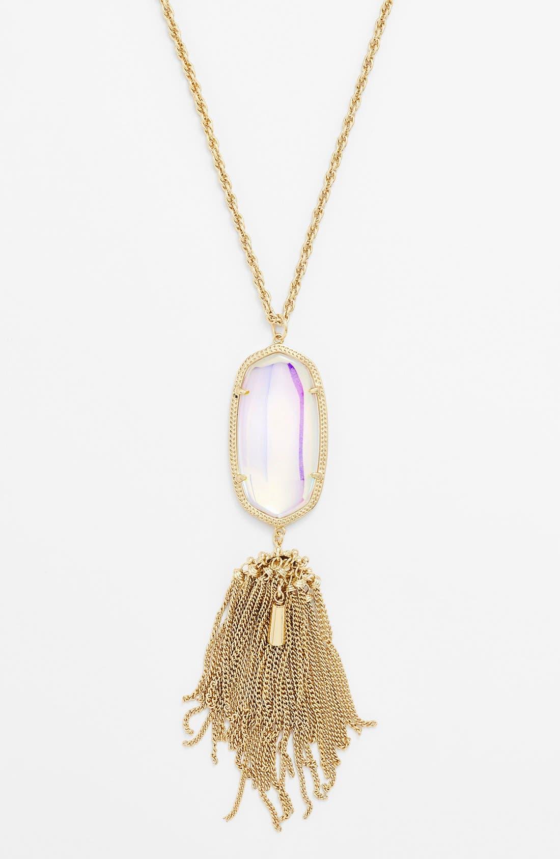 Rayne Stone Tassel Pendant Necklace,                             Alternate thumbnail 150, color,