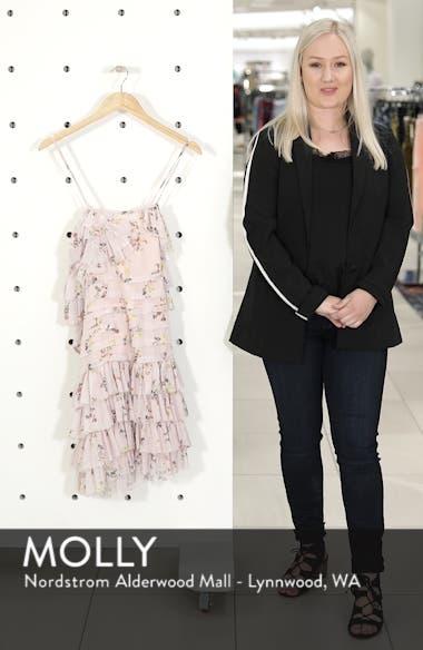 Mina Ruffled Cold Shoulder Dress, sales video thumbnail