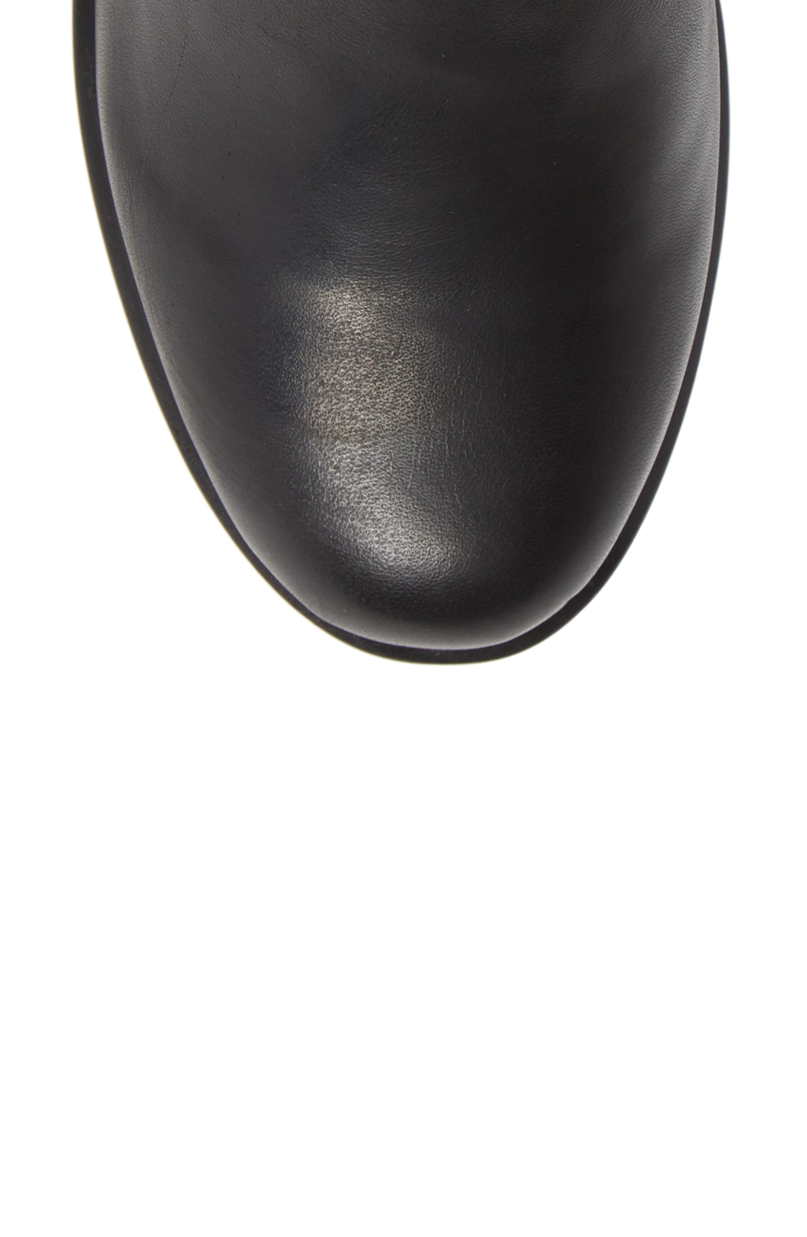 Ital Slightly Slouchy Bootie,                             Alternate thumbnail 5, color,                             BLACK