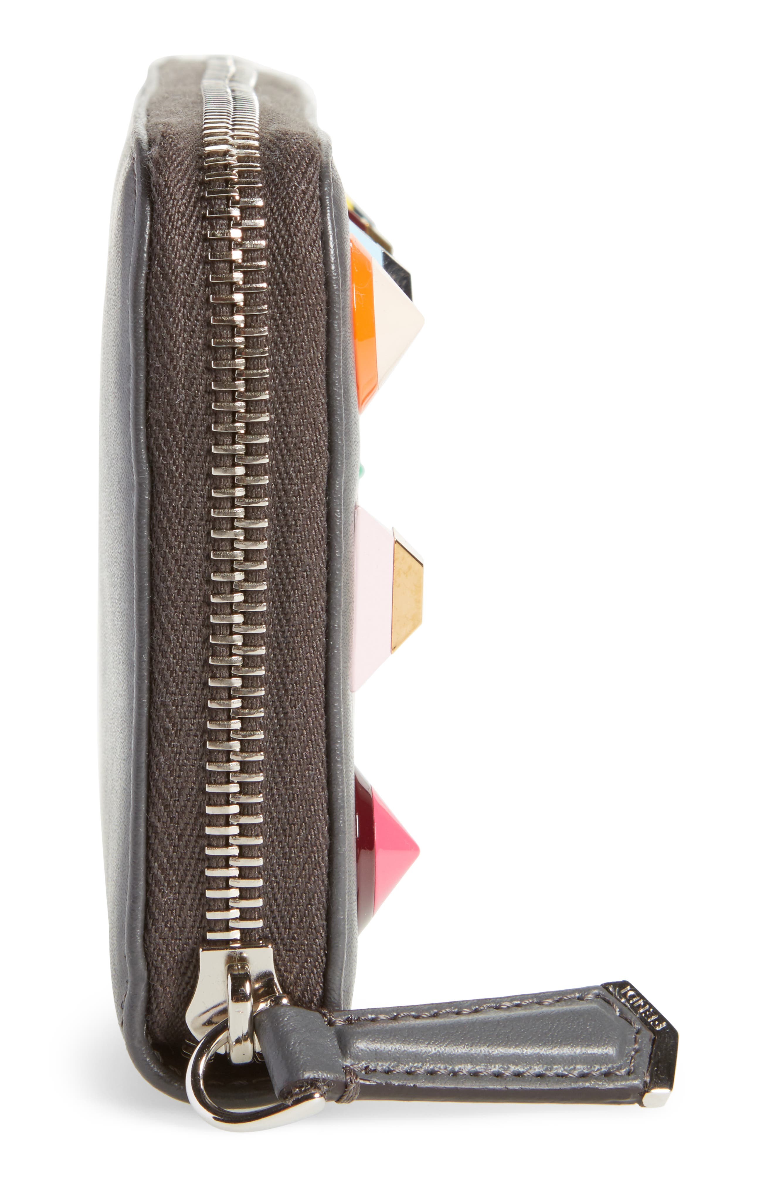 Studded Calfskin Wallet,                             Alternate thumbnail 5, color,                             086