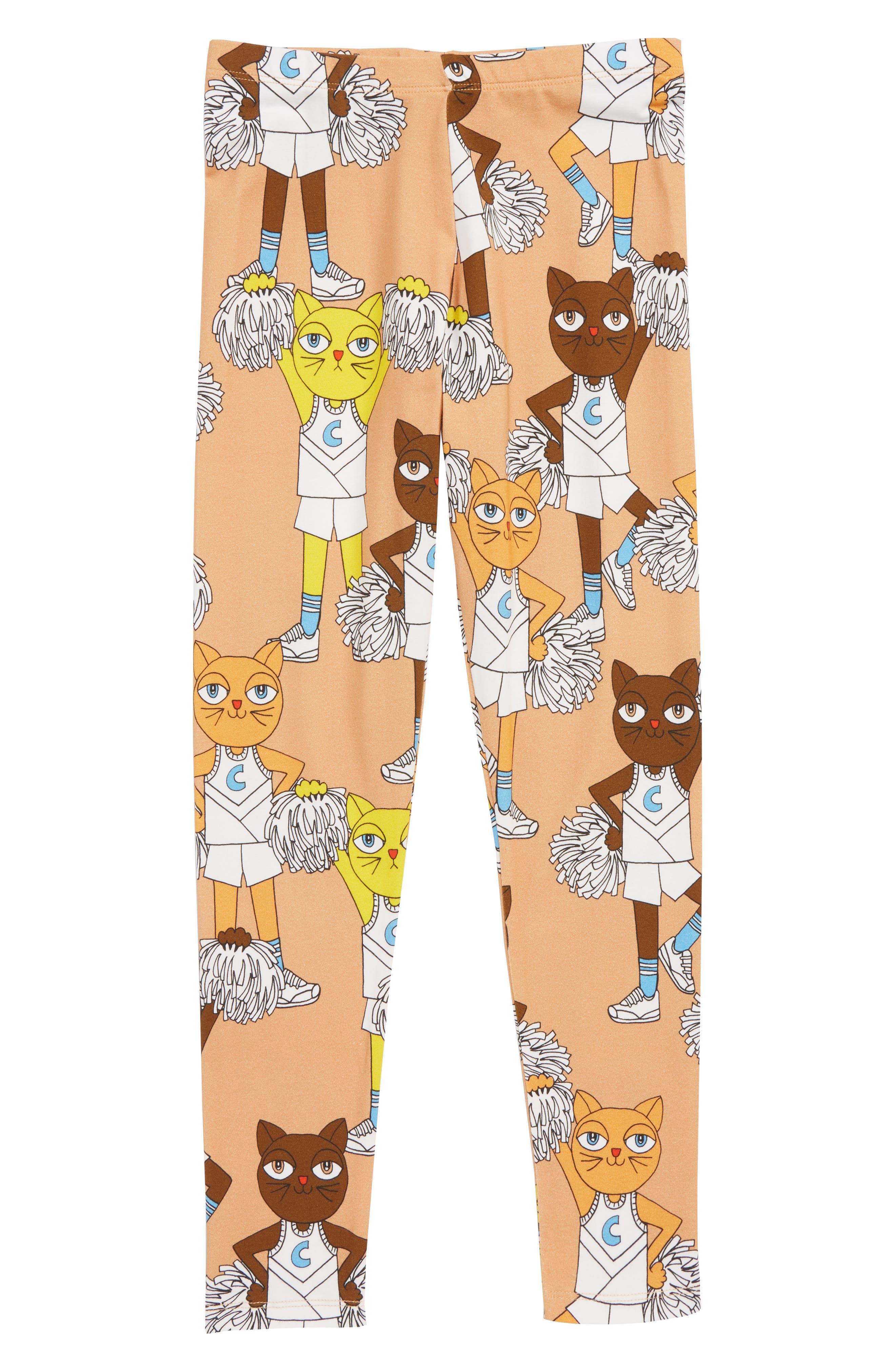 Cheer Cats Leggings,                             Main thumbnail 1, color,                             BIEGE