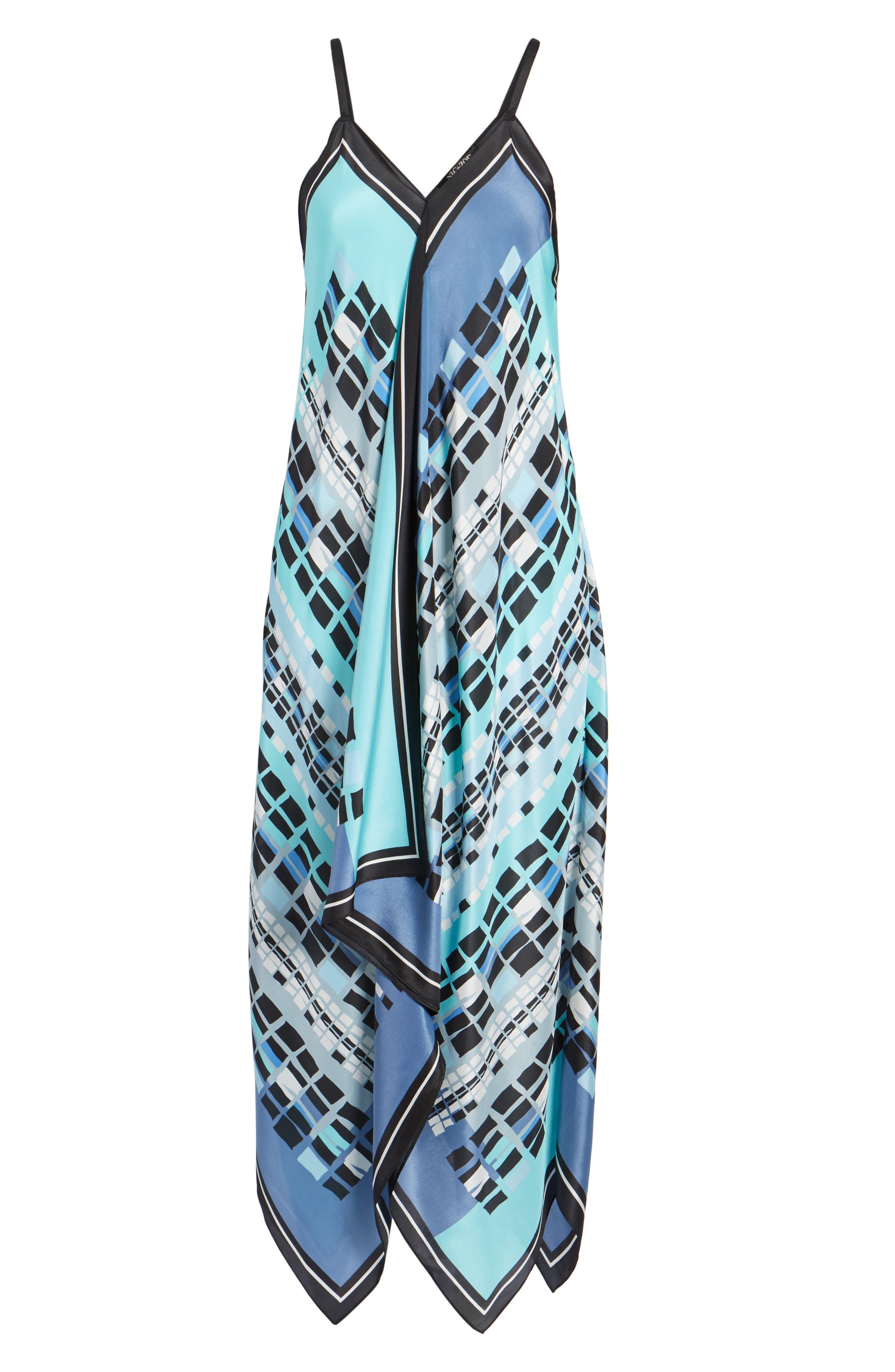 From Above Dress Silk Blend Maxi Dress,                             Alternate thumbnail 7, color,                             490