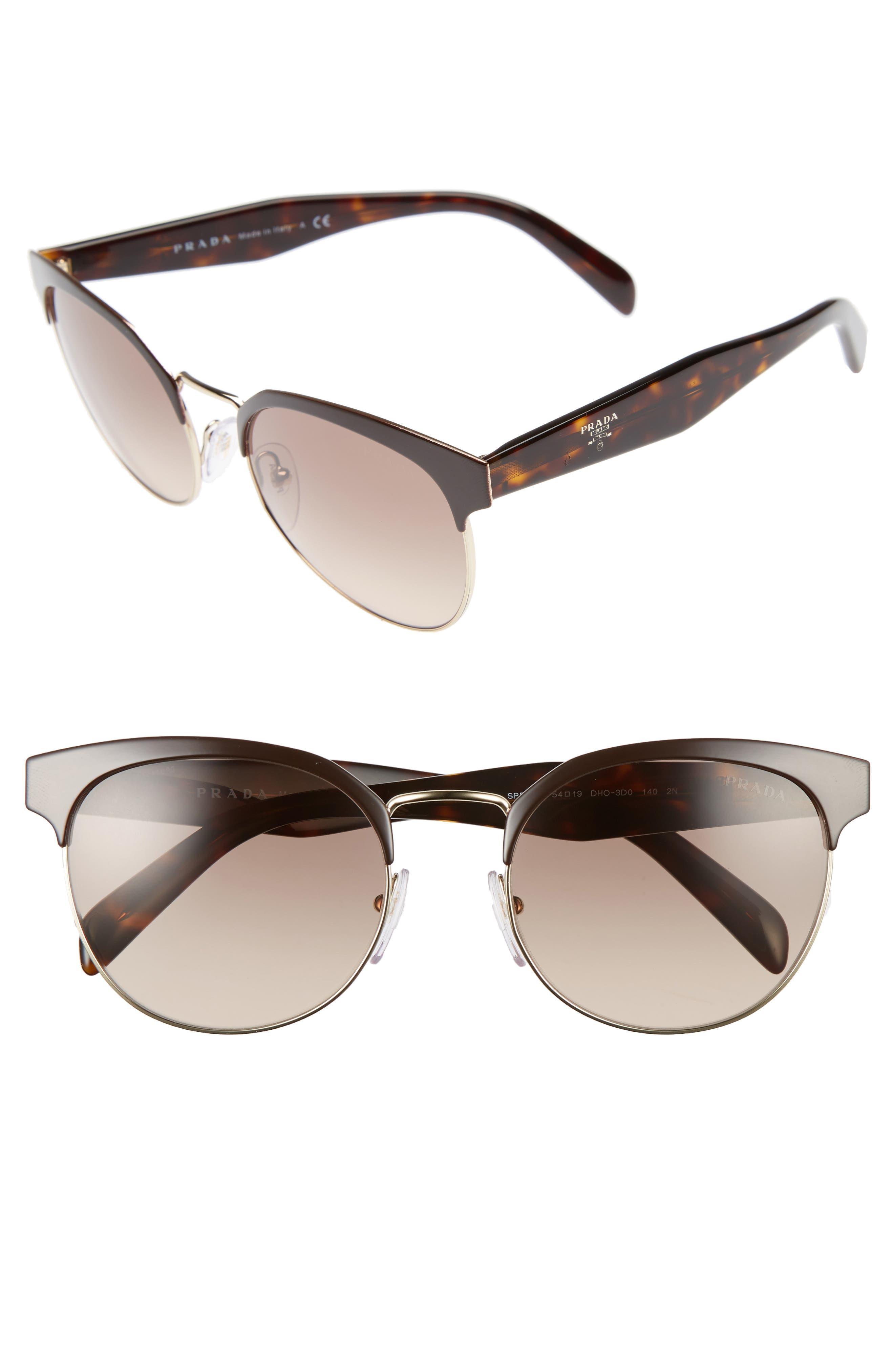 54mm Gradient Round Sunglasses,                         Main,                         color,