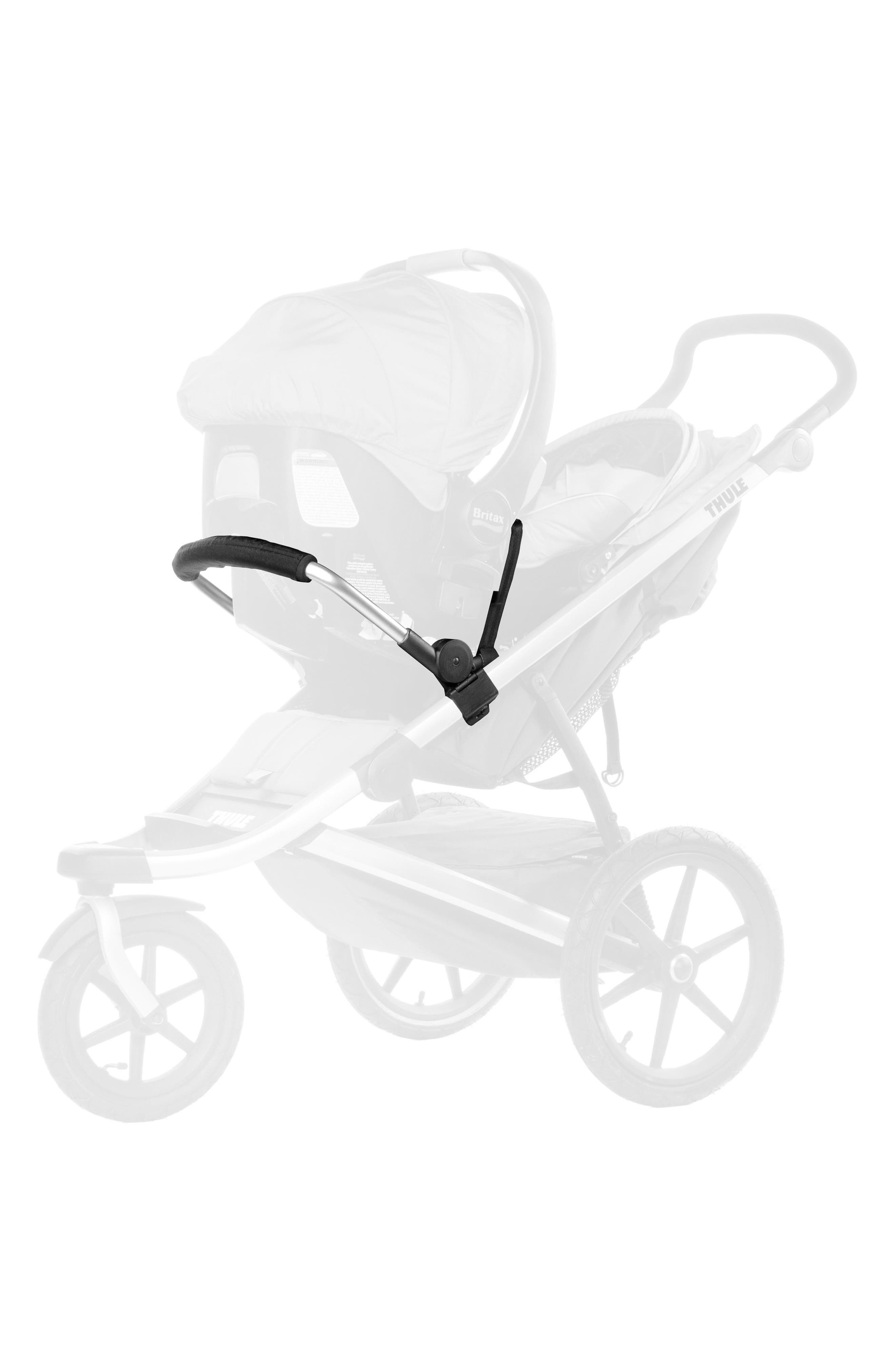THULE,                             Glide & Urban Glide Infant Car Seat Adapter,                             Alternate thumbnail 2, color,                             BLACK