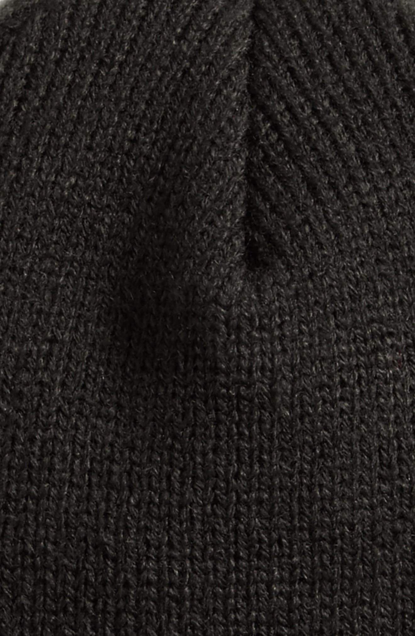 Felted Logo Beanie,                             Alternate thumbnail 3, color,                             001