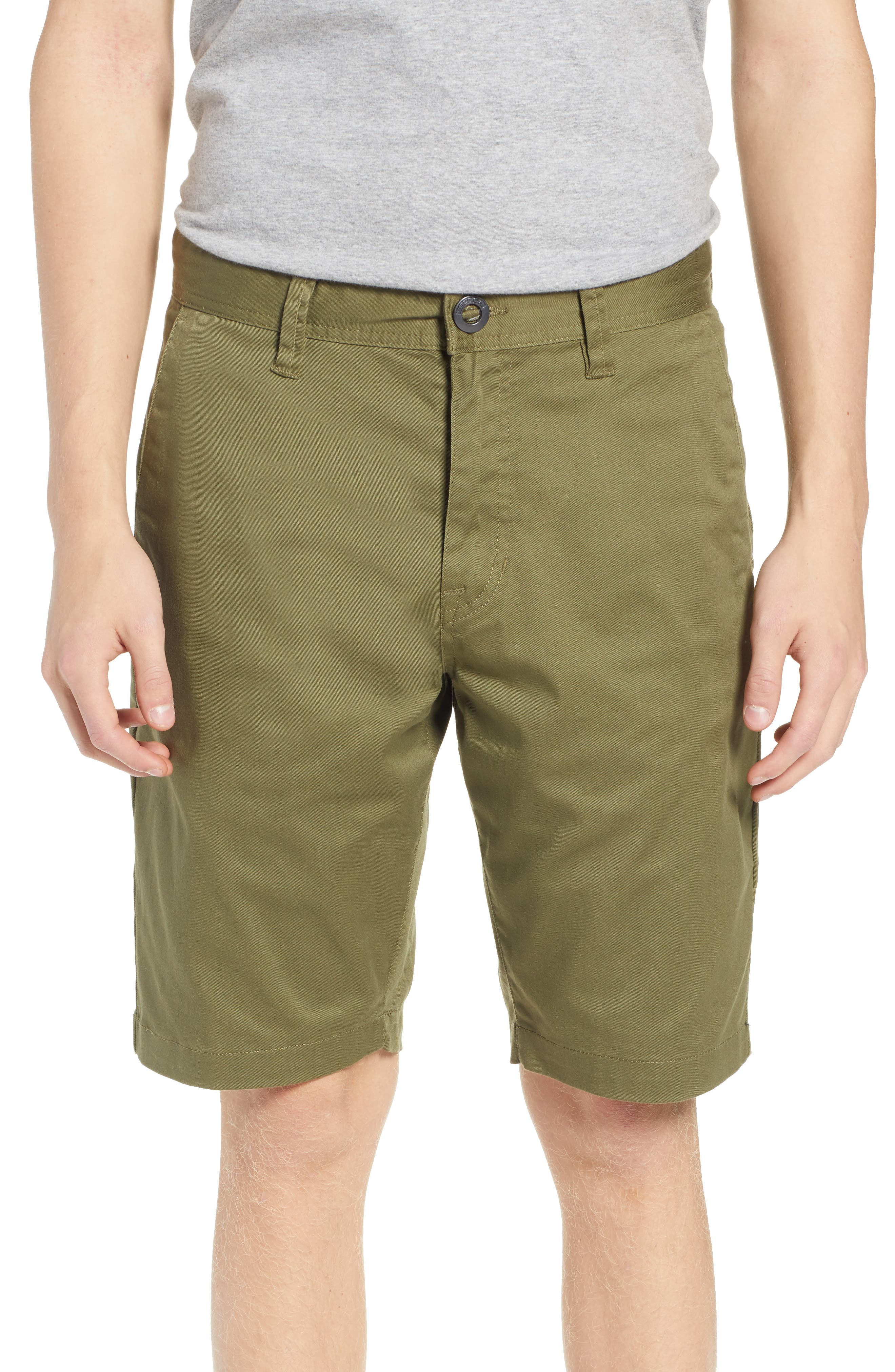 'Modern' Stretch Chino Shorts,                             Main thumbnail 1, color,                             VINE GREEN