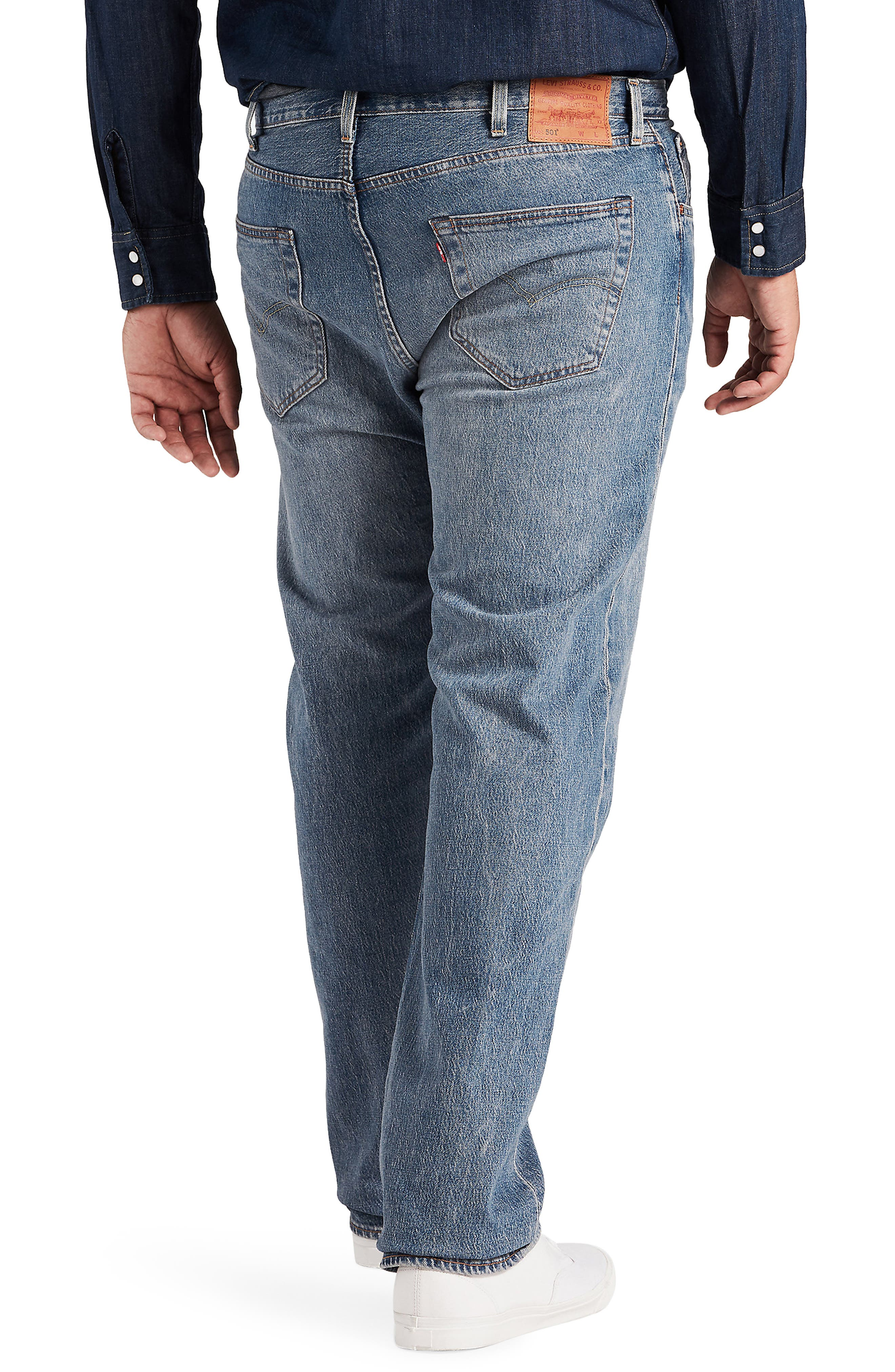 LEVI'S<SUP>®</SUP>,                             501<sup>®</sup> Straight Leg Jeans,                             Alternate thumbnail 2, color,                             BAYWATER