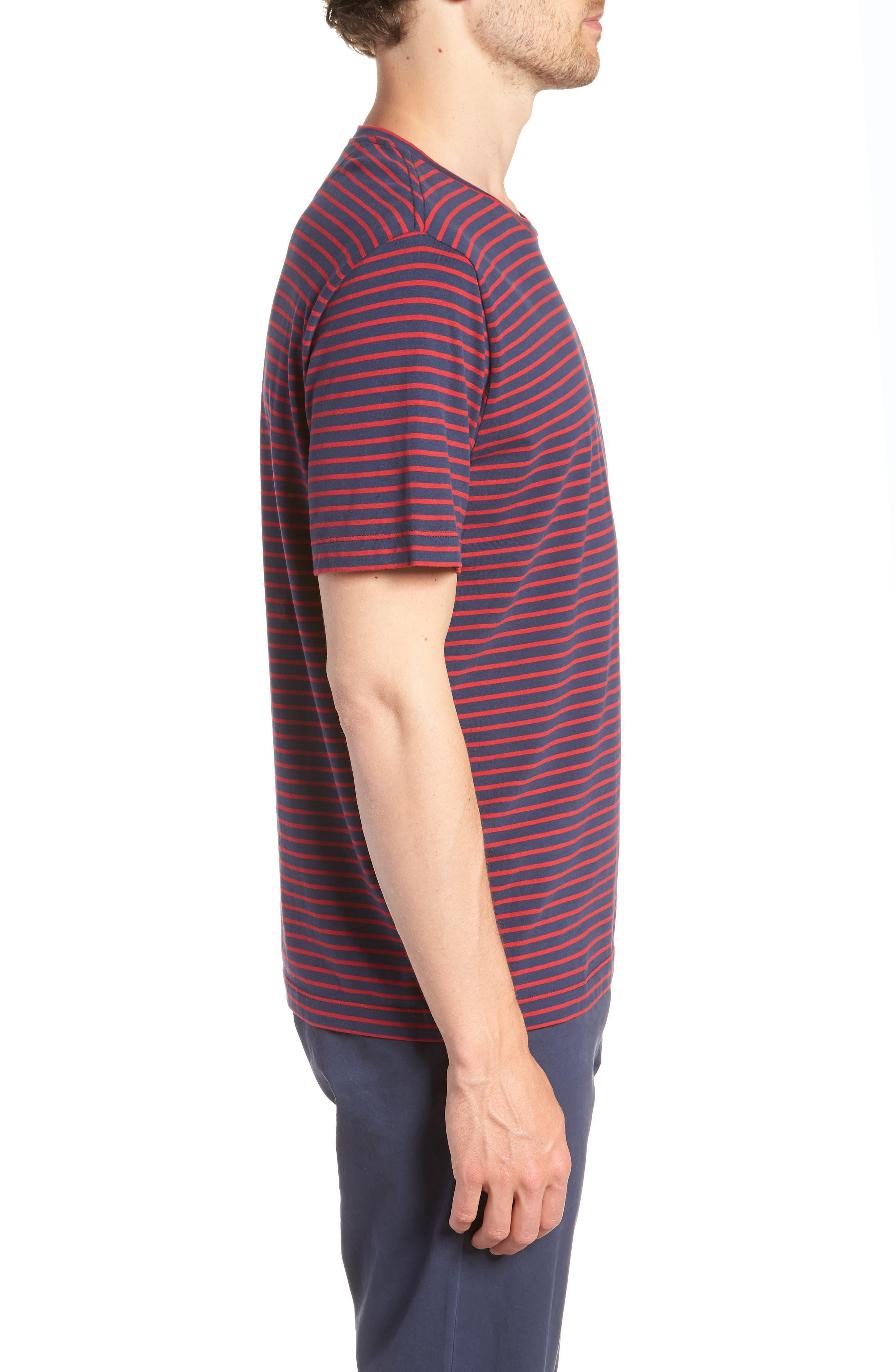 Stripe Brushed Pima Cotton T-Shirt,                             Alternate thumbnail 9, color,