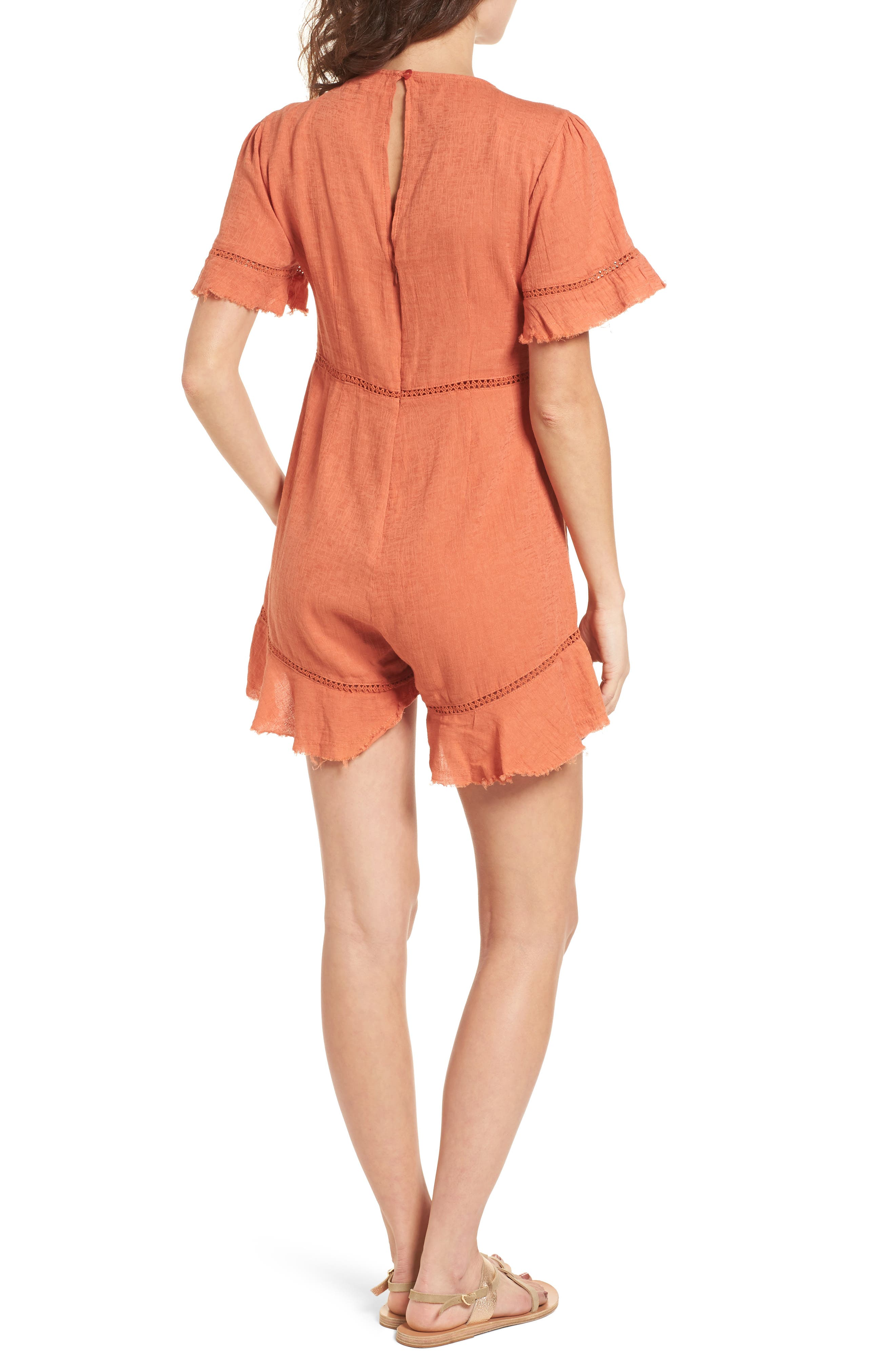 Highway to Highway Fray Edge Romper,                             Alternate thumbnail 2, color,                             950