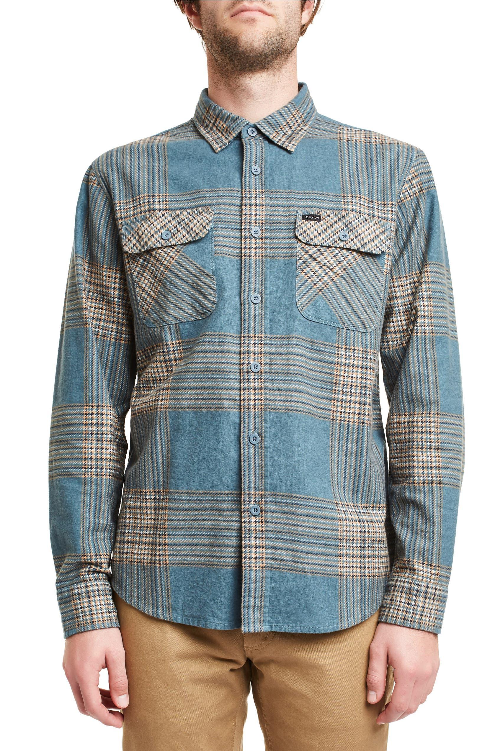 Brixton Bowery Plaid Shirt  46ed973de