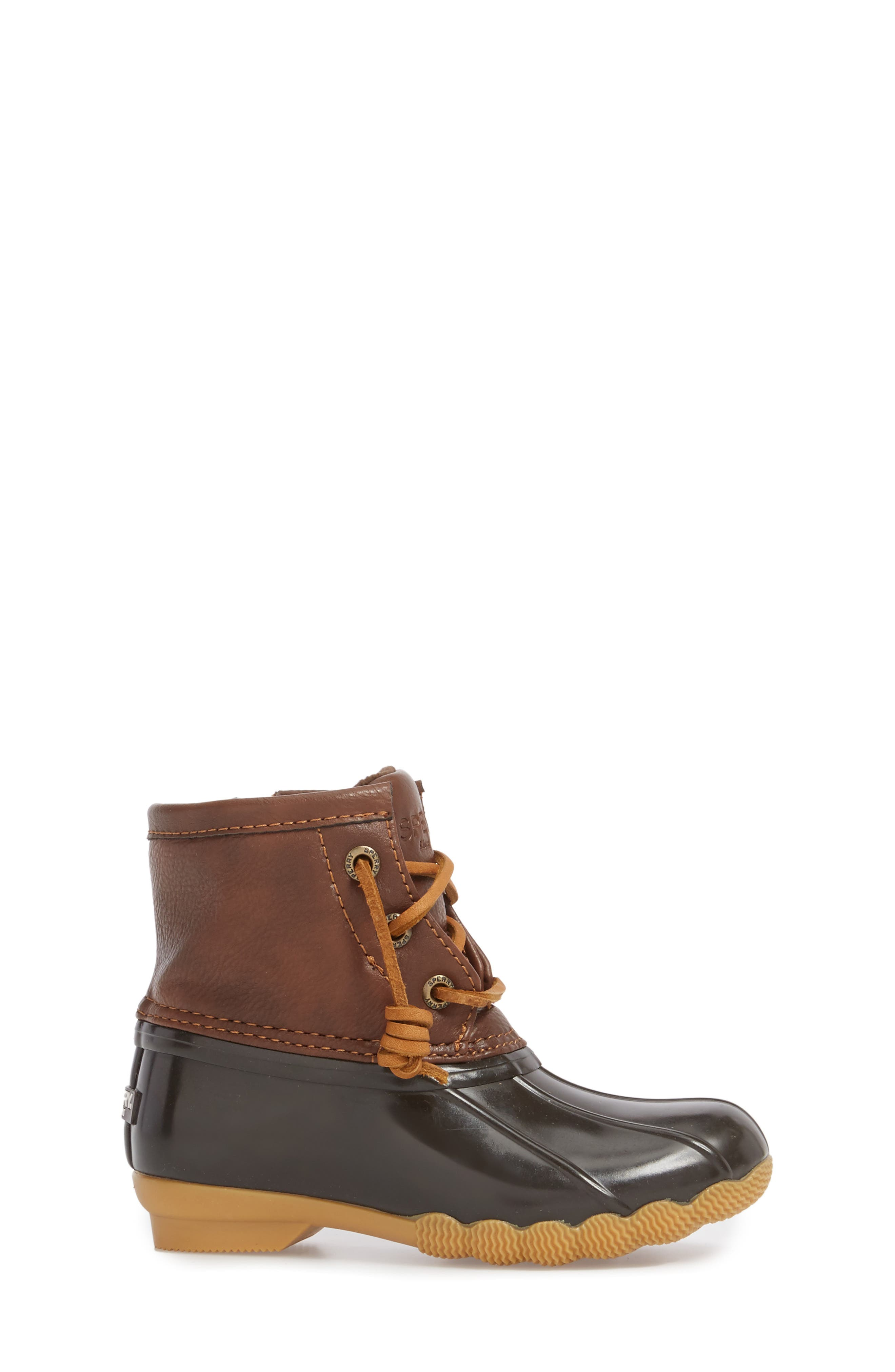 Saltwater Duck Boot,                             Alternate thumbnail 3, color,                             BROWN/ BROWN