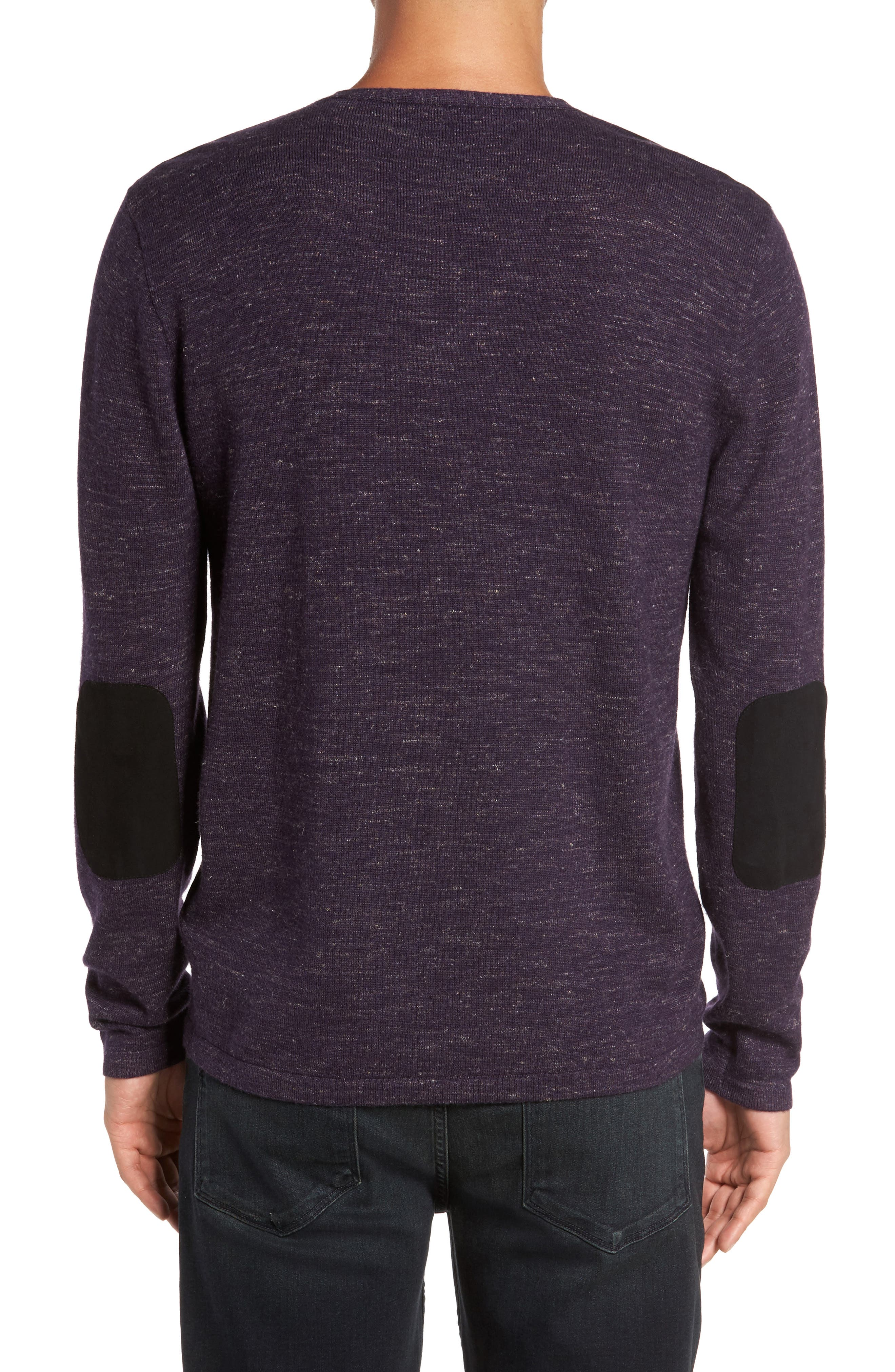 Long Sleeve V-Neck Sweater,                             Alternate thumbnail 6, color,