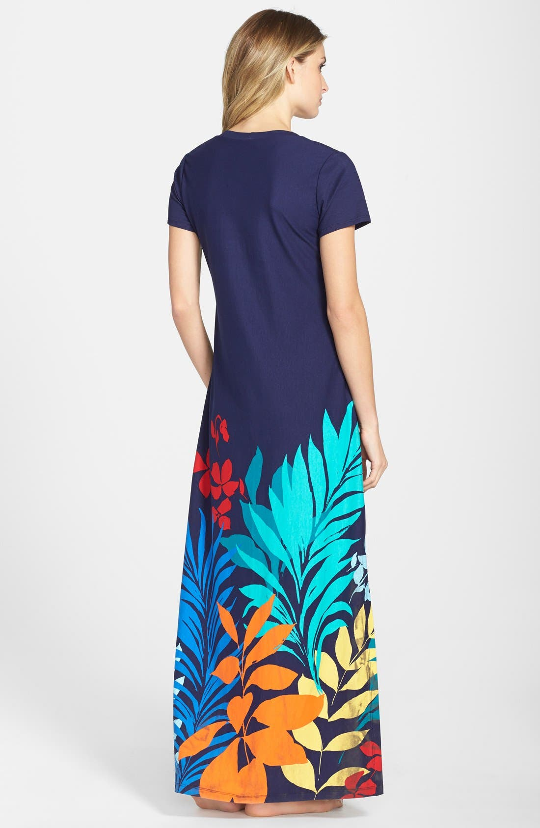 TOMMY BAHAMA,                             'Tropical Leaf' Maxi Dress,                             Alternate thumbnail 2, color,                             400
