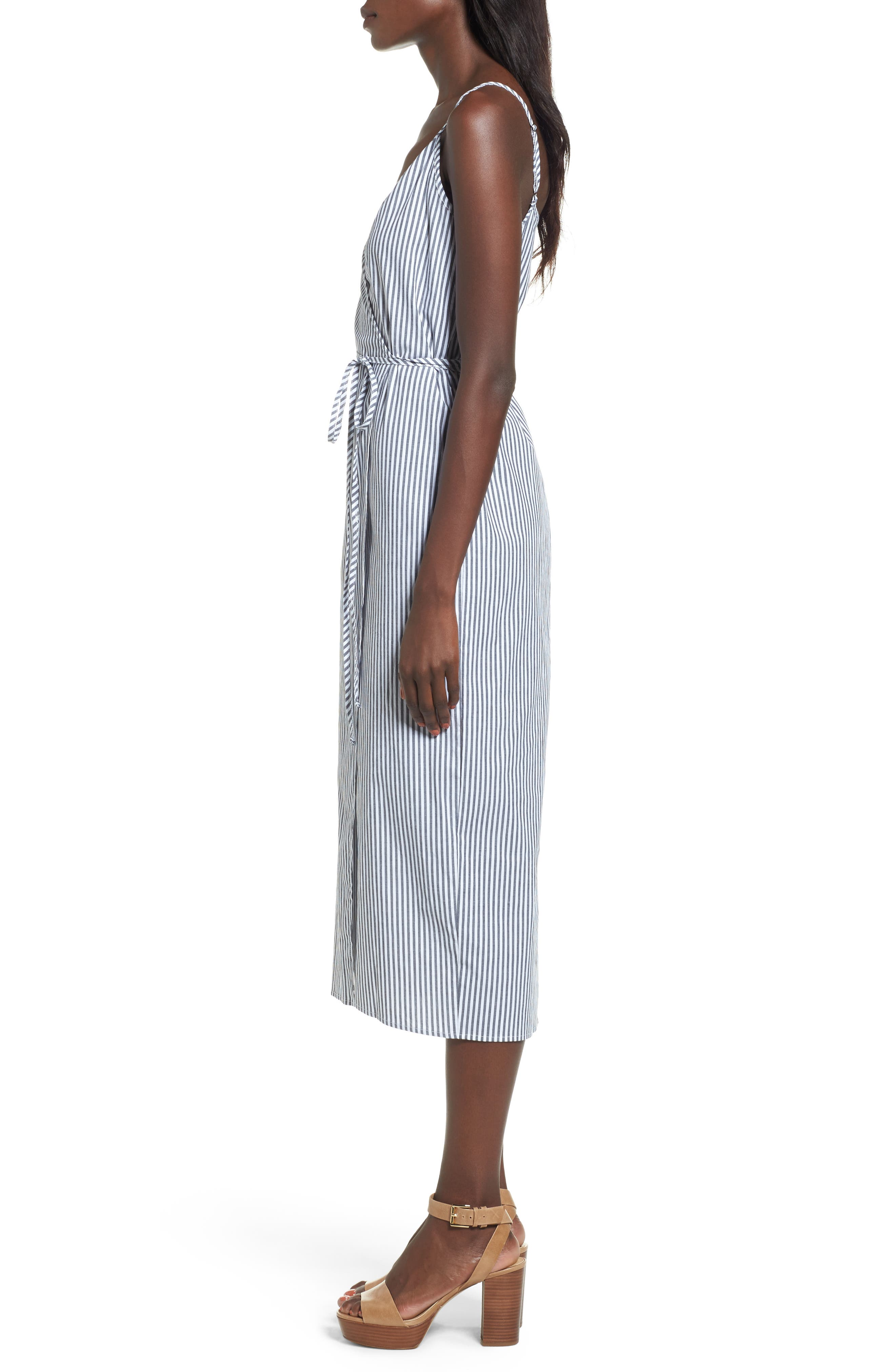 Wrap Midi Dress,                             Alternate thumbnail 9, color,