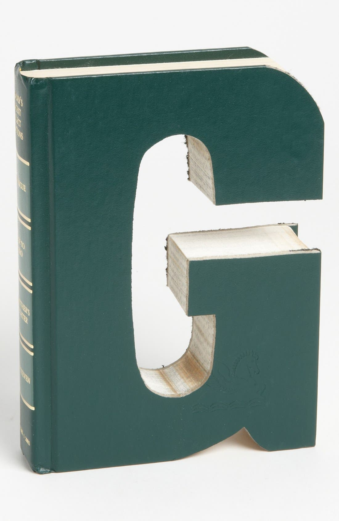 'One of a Kind Letter' Hand-Carved Recycled Book Shelf Art,                             Main thumbnail 7, color,