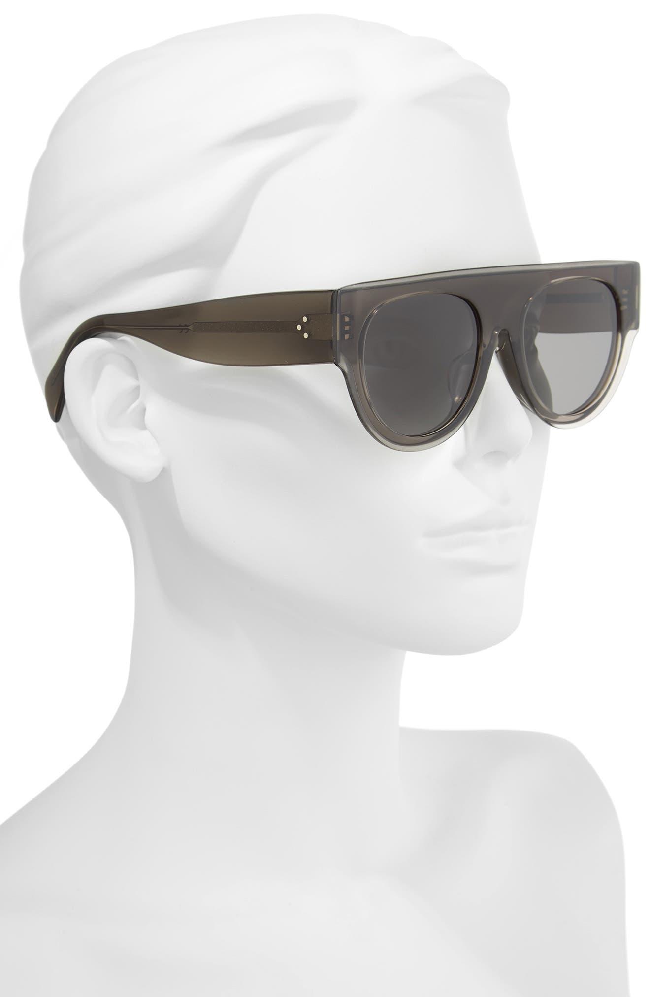 52mm Pilot Sunglasses,                             Alternate thumbnail 2, color,                             DARK GREY/ SMOKE