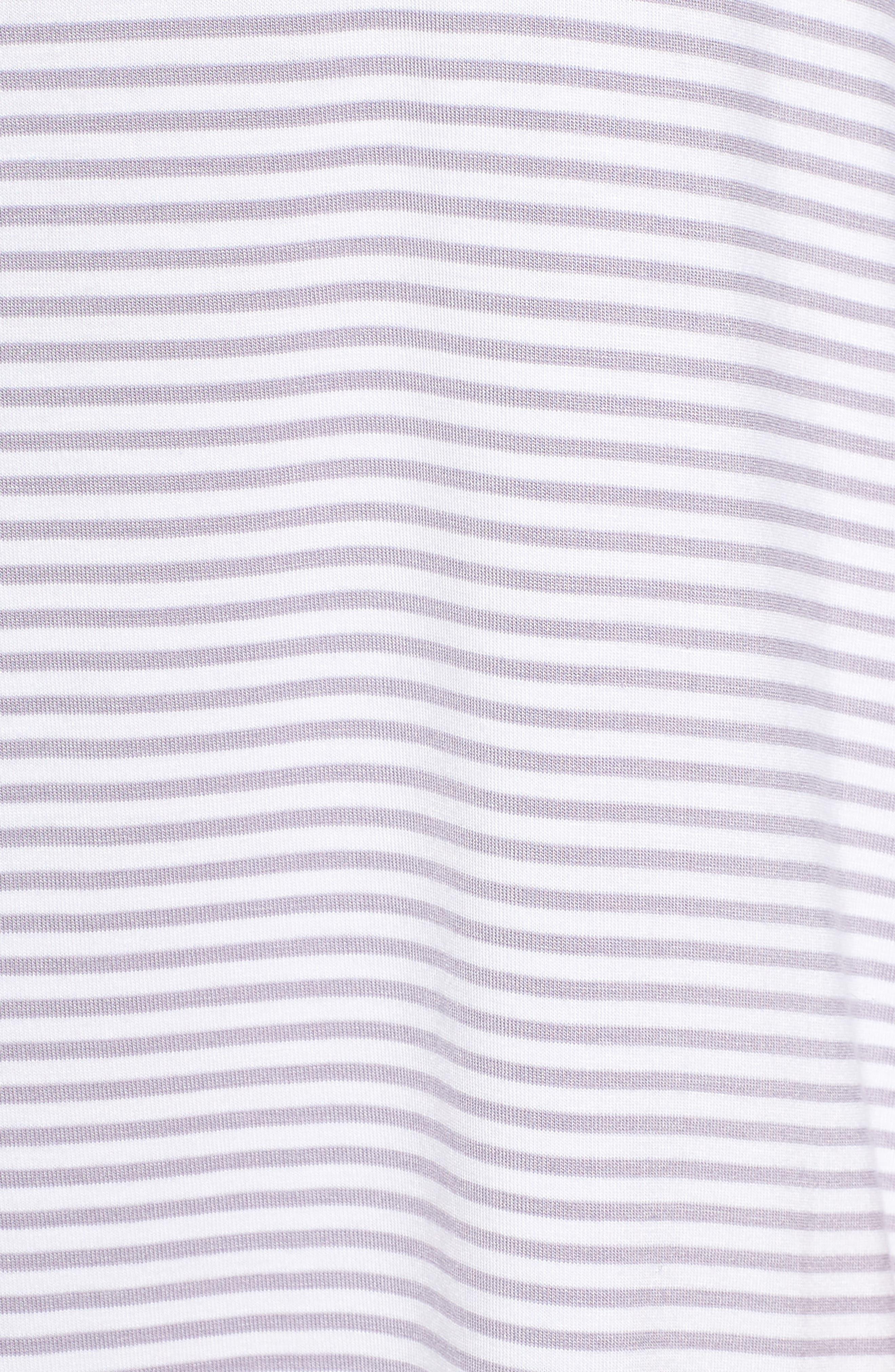 Vivian Sleep Shirt,                             Alternate thumbnail 5, color,                             LAVENDER AURA / WHITE STRIPE