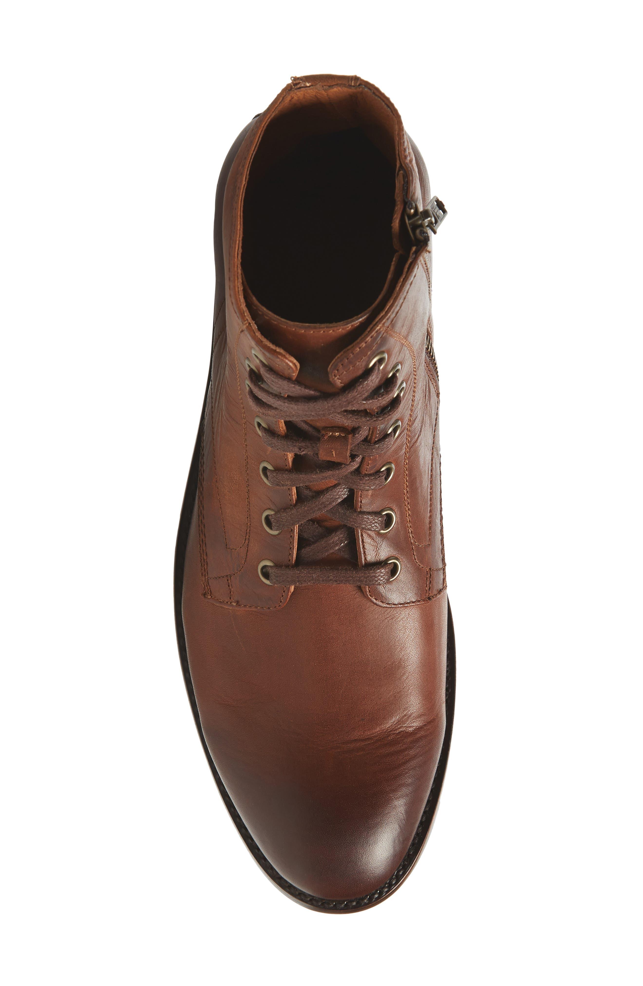 Bowery Plain Toe Boot,                             Alternate thumbnail 5, color,                             COGNAC