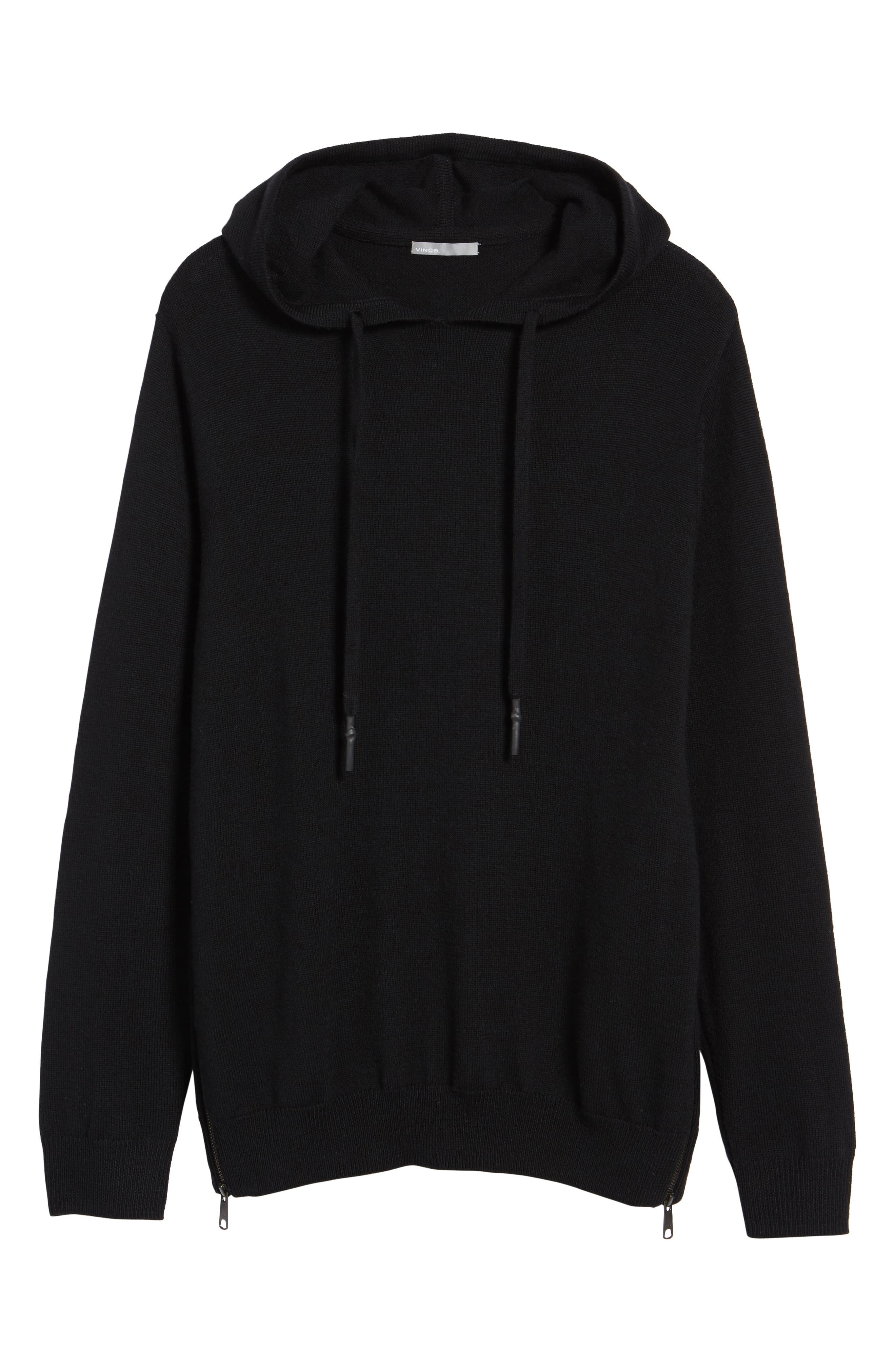 Regular Fit Merino Hooded Sweater,                             Alternate thumbnail 6, color,                             001