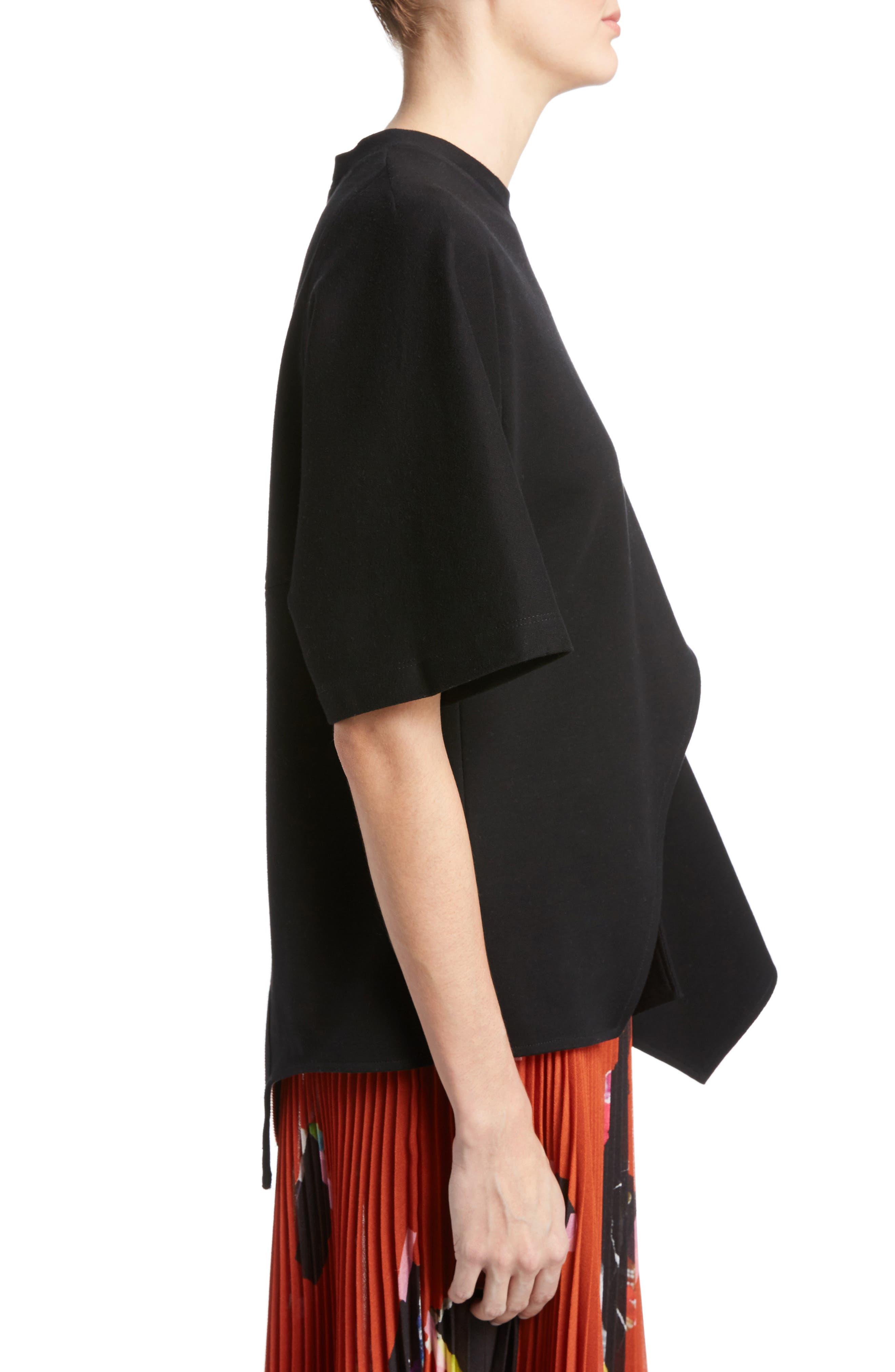 Asymmetrical Jersey Top,                             Alternate thumbnail 3, color,                             001