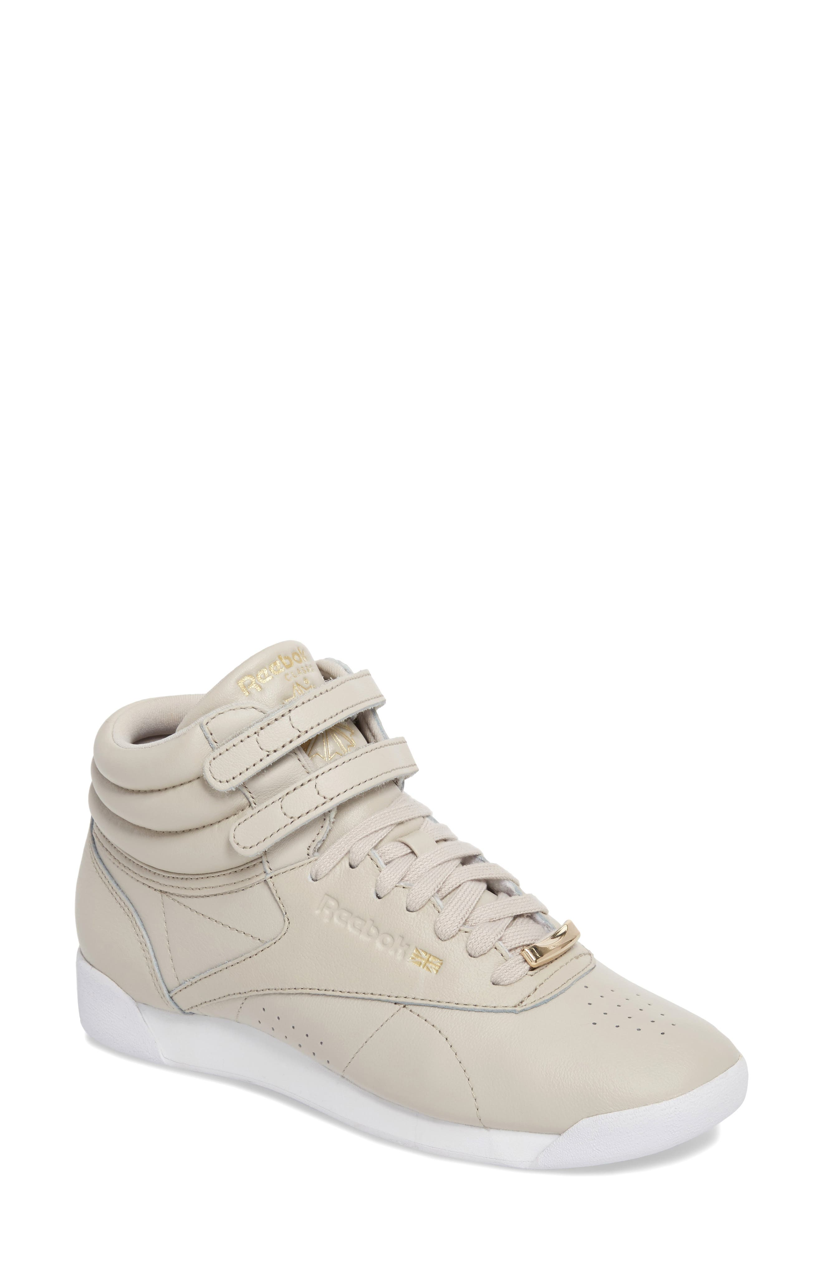 Freestyle Hi Muted Sneaker,                             Main thumbnail 1, color,                             SANDSTONE/ WHITE