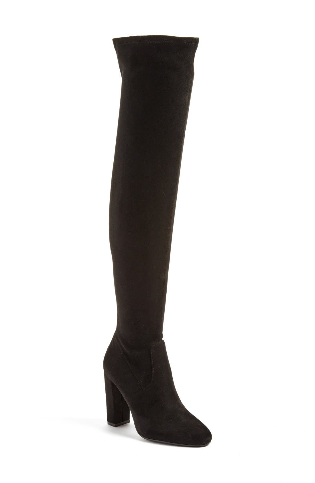 'Emotions' Stretch Over the Knee Boot,                             Main thumbnail 1, color,                             001