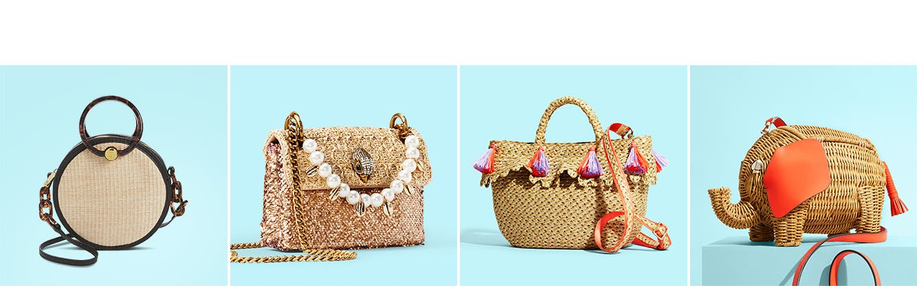 Spring trend: straw handbags.
