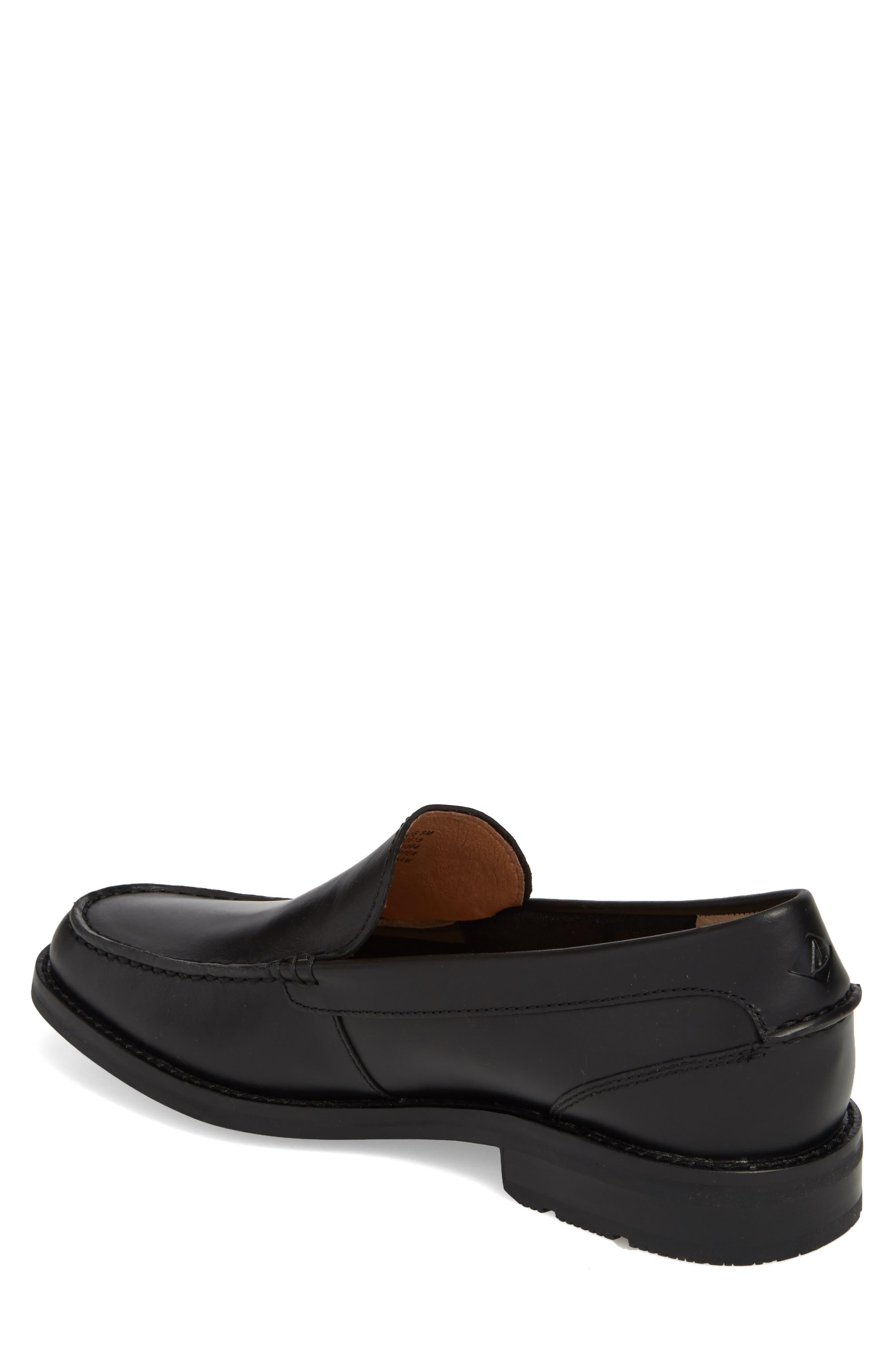Essex Venetian Loafer,                             Alternate thumbnail 2, color,                             BLACK LEATHER