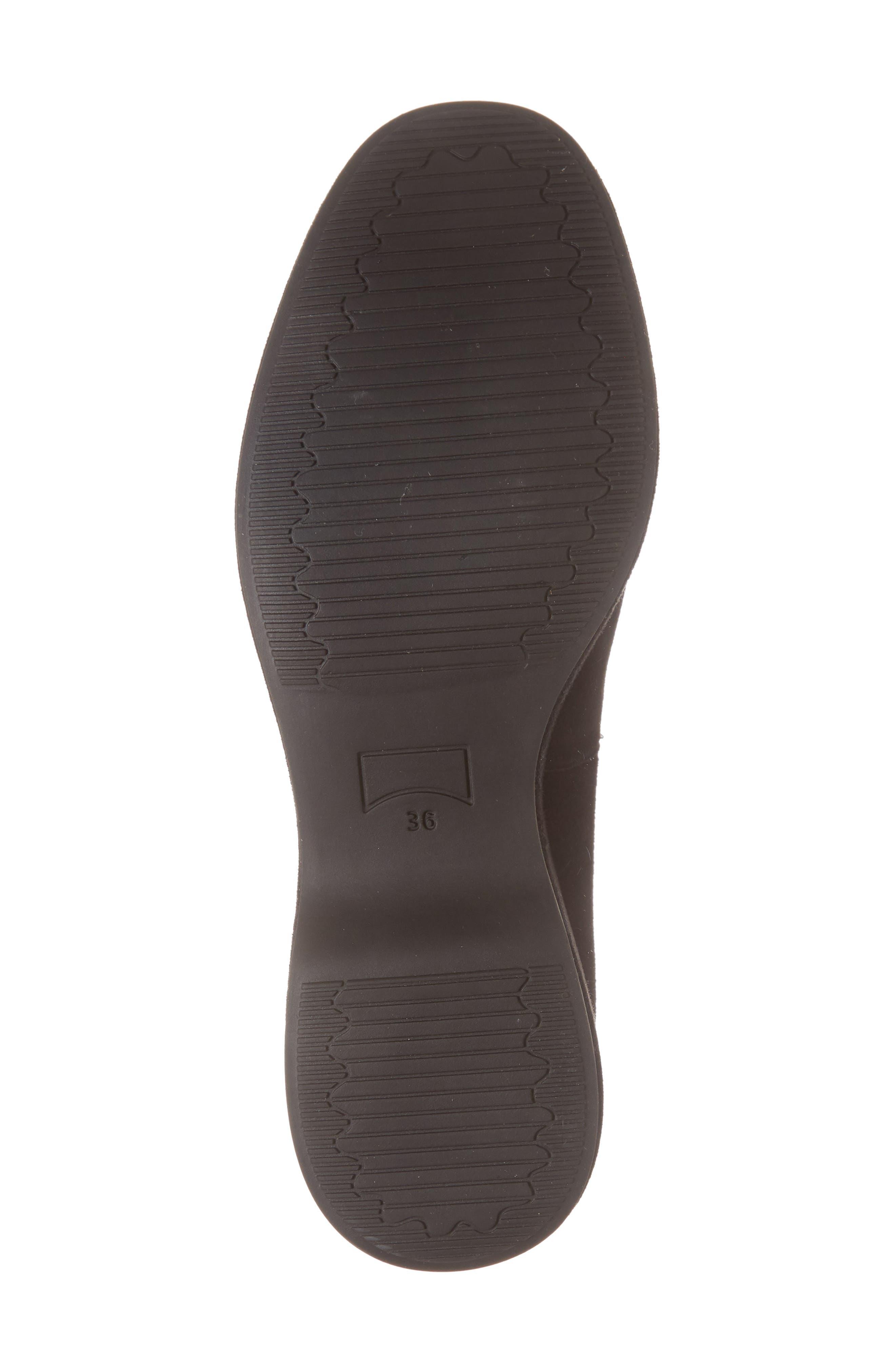 Sisea Platform Shoe,                             Alternate thumbnail 6, color,                             BLACK LEATHER