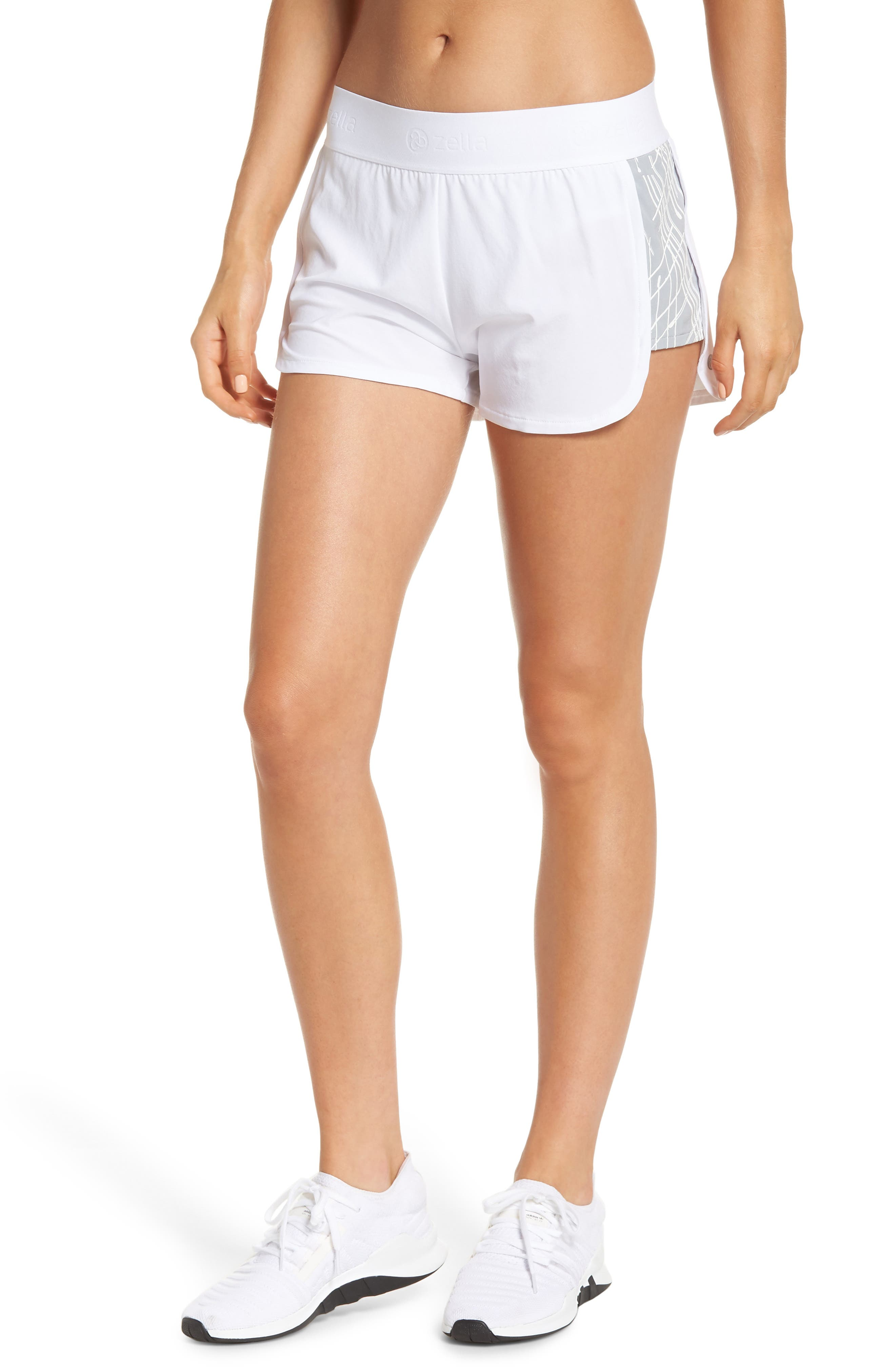 Go Run Reflect Shorts,                             Main thumbnail 1, color,                             WHITE